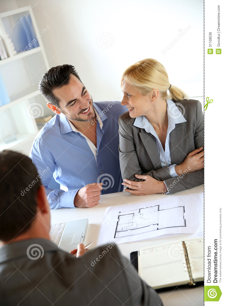 Couple Looking At Future House Plans Royalty Free Stock -1711