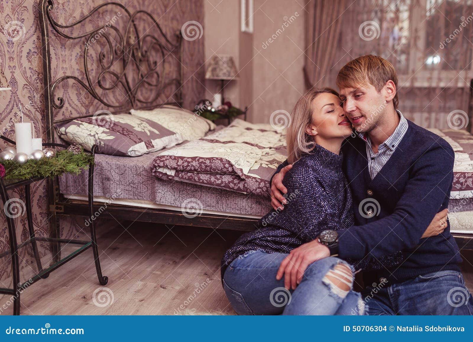 Couple in love in bedroom stock photo image 50706304 for Love bedroom photo