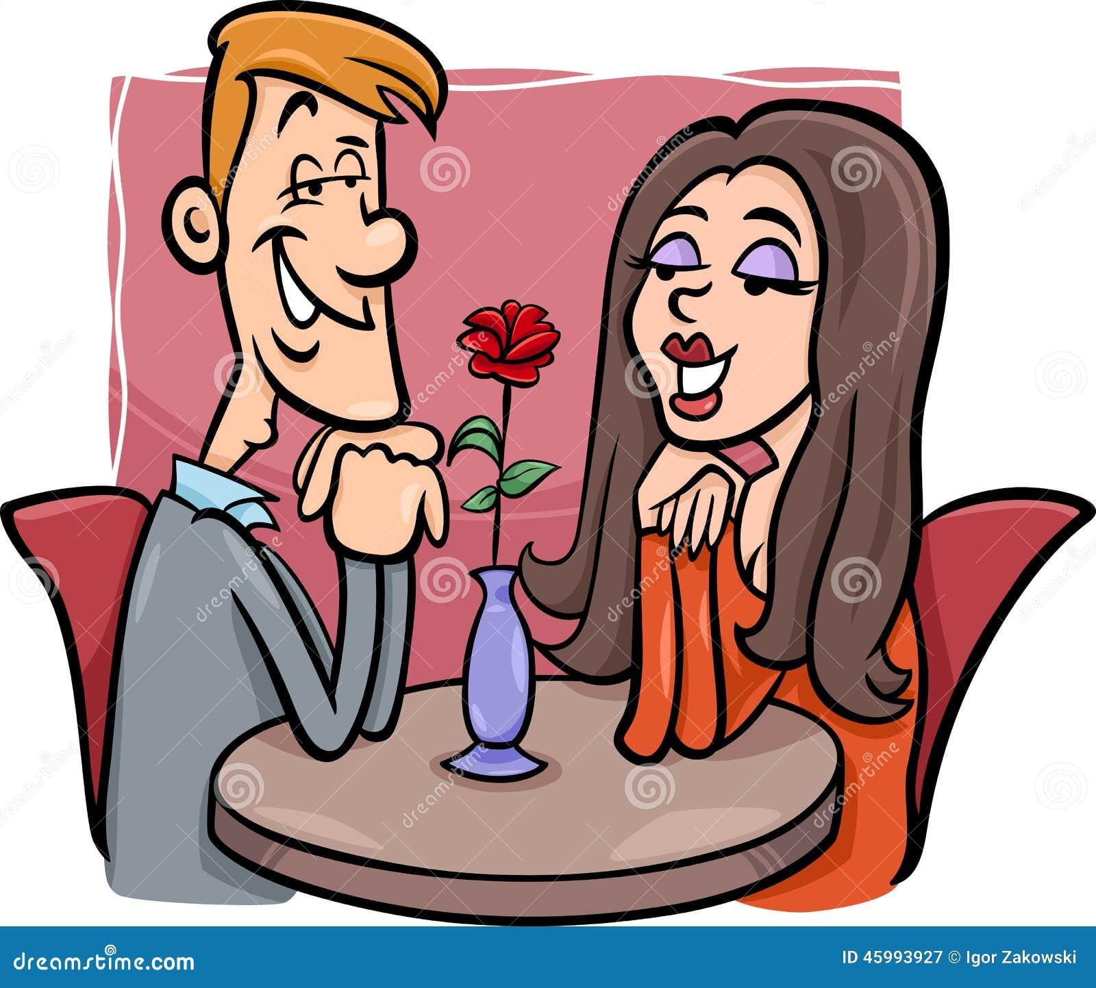 In Love Cartoon: Couple In Love Cartoon Illustration Stock Vector