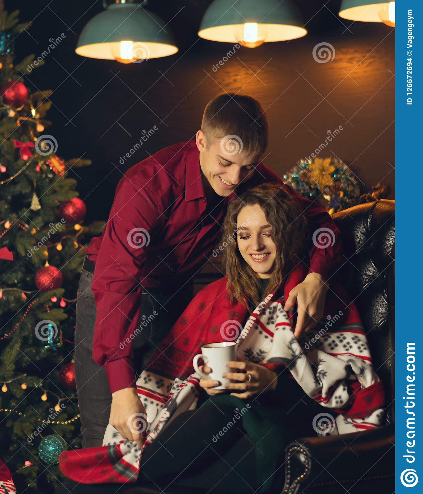 download couple in love celebrating christmas stock photo image of caucasian concept 126672694 - Who Celebrates Christmas