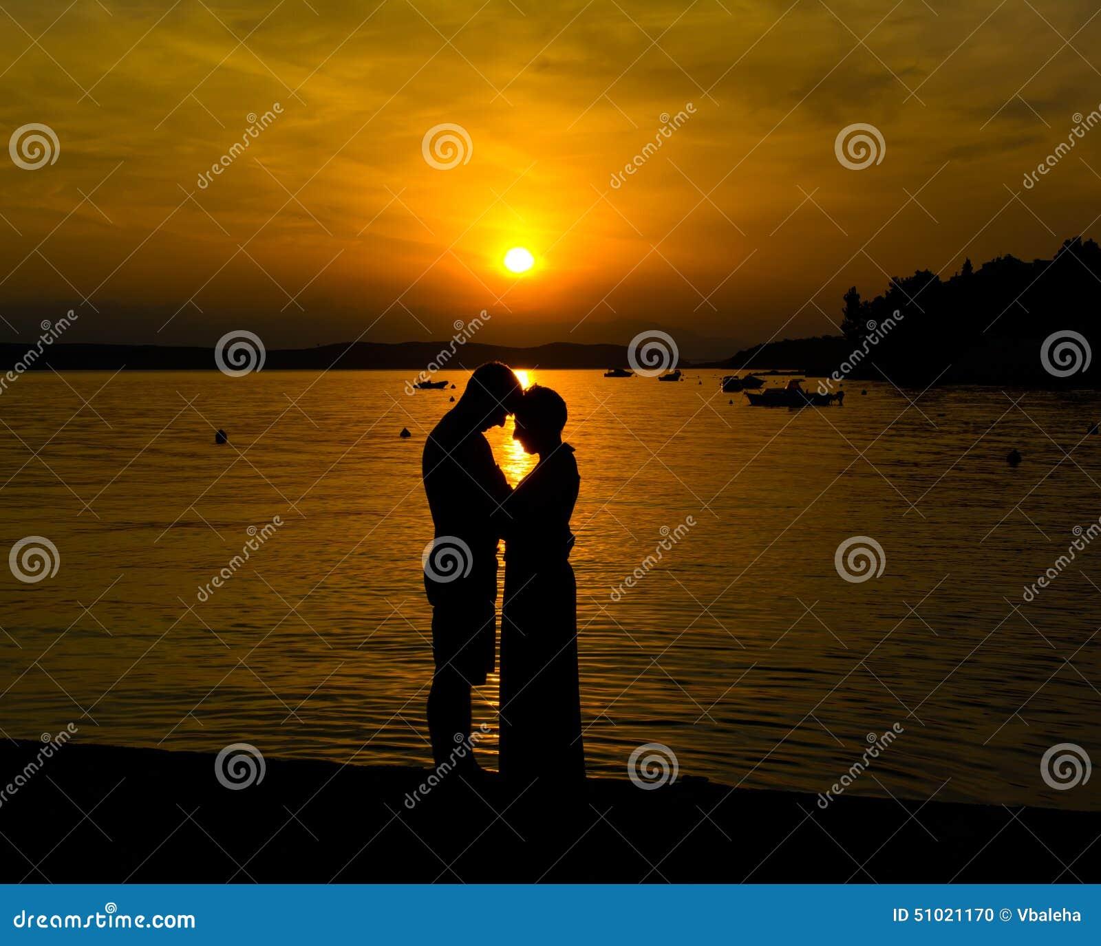 Couple In Love Enjoying Romantic Evening Stock Photo