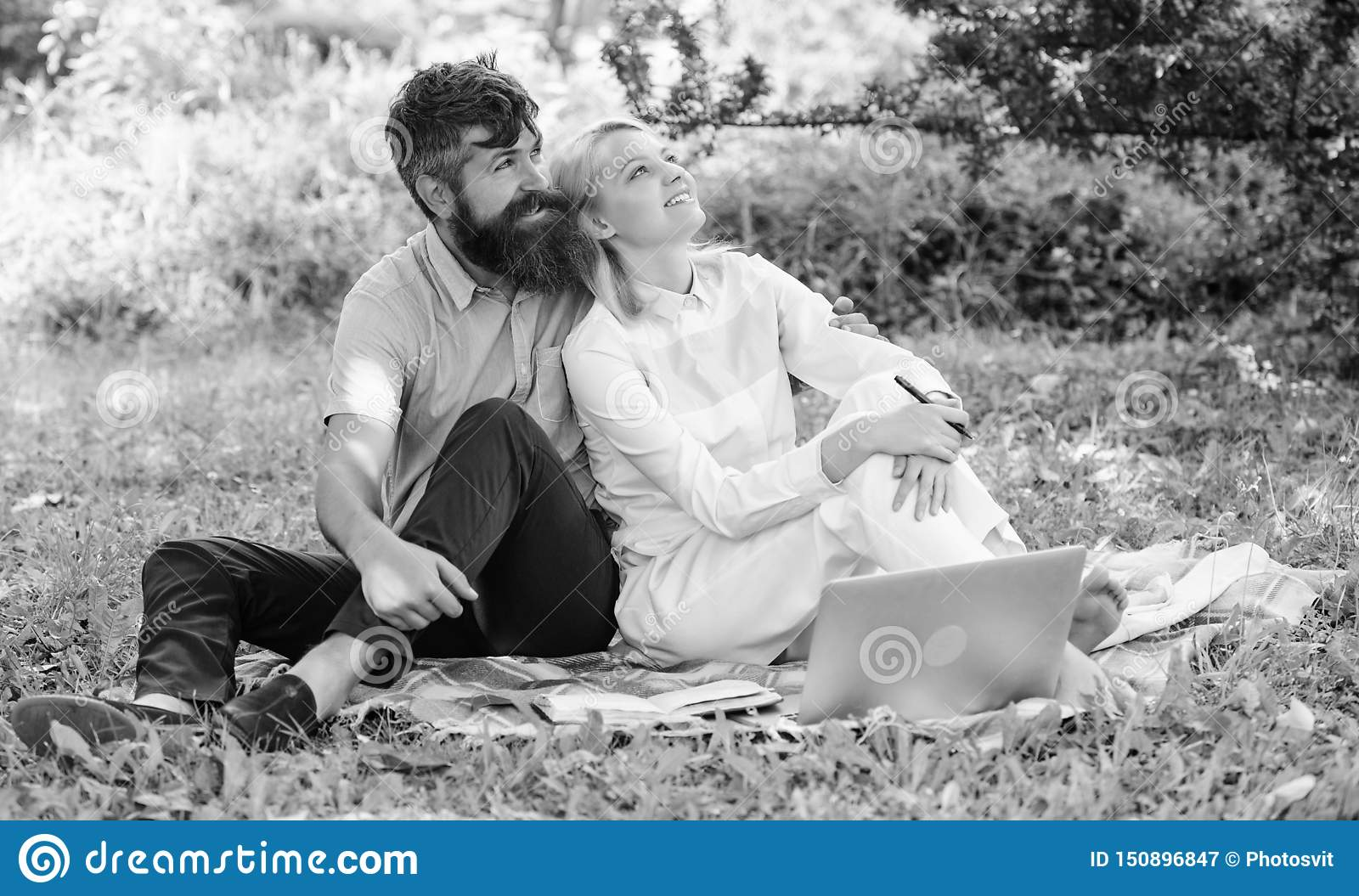 Couple in love or family work freelance. Modern online business. Freelance life benefit concept. Couple youth spend