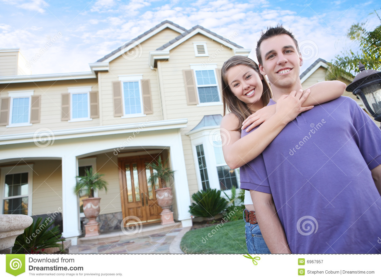 Couple in love in front home royalty free stock photography image 6967957 - Young couple modern homes ...