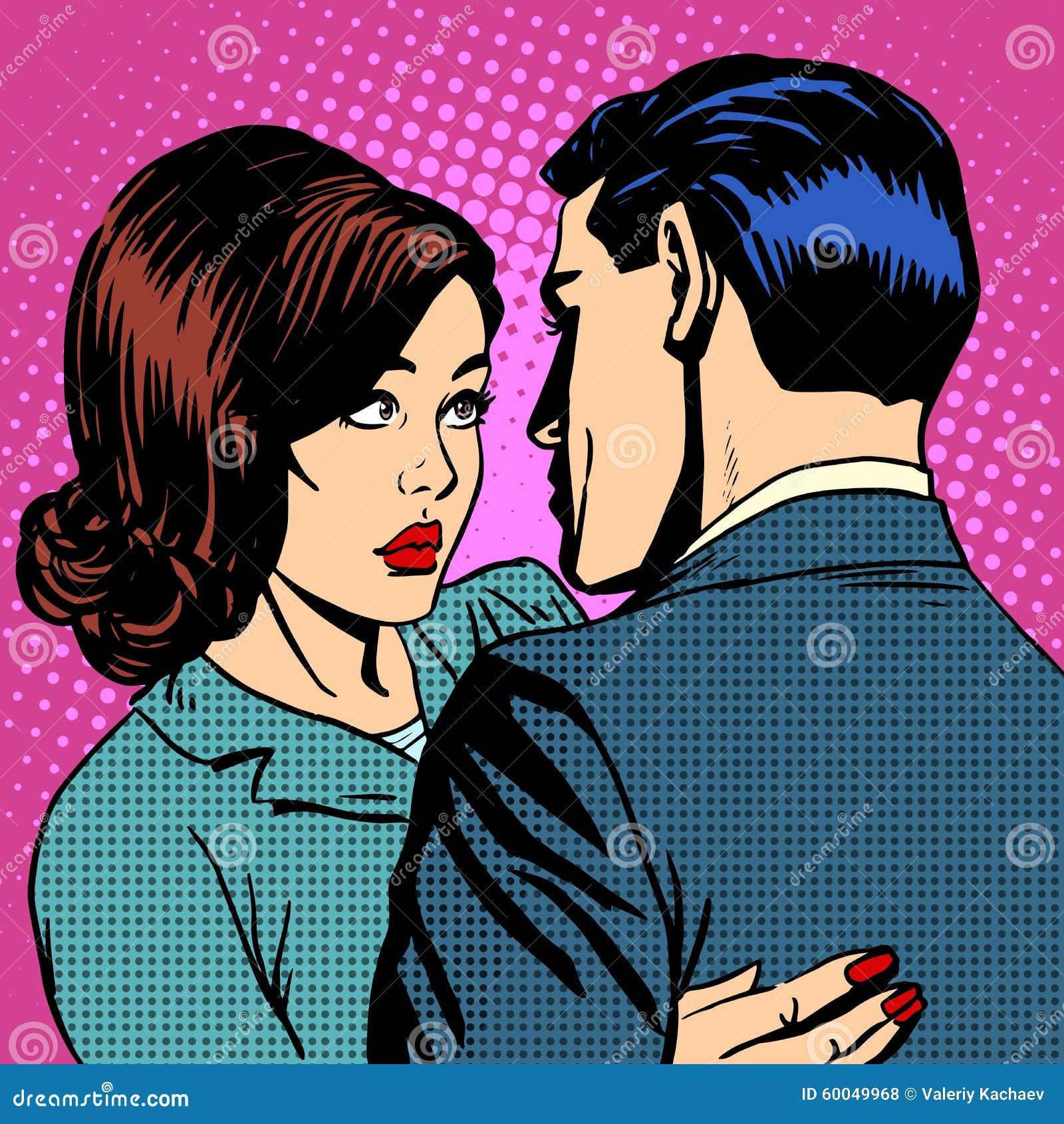 Couple In Love Hugging Stock Vector