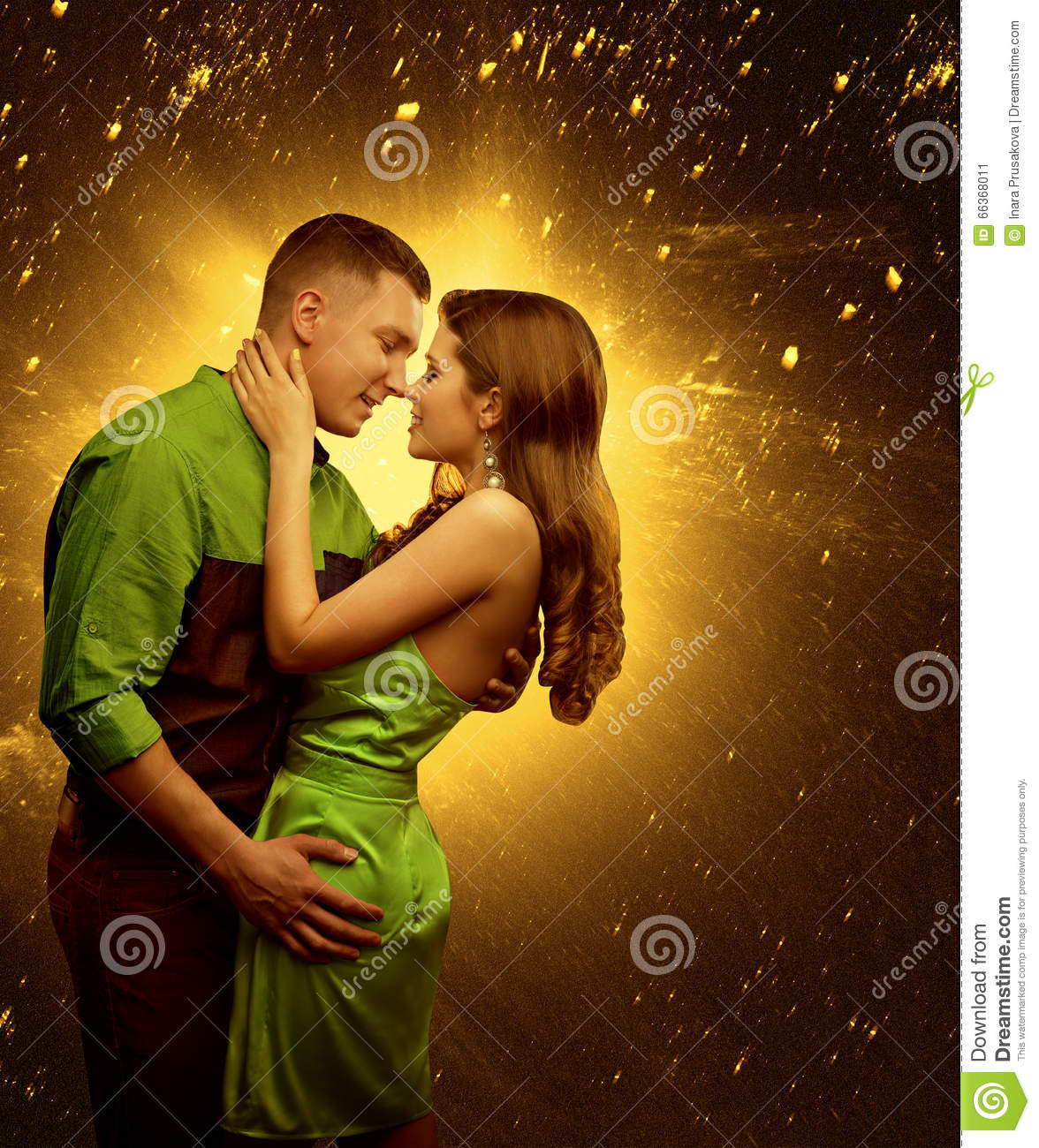 Couple In Love Lover Man Embrace Woman Two Lovers Kiss Stock Image Image Of Fashion Dancing 66368011