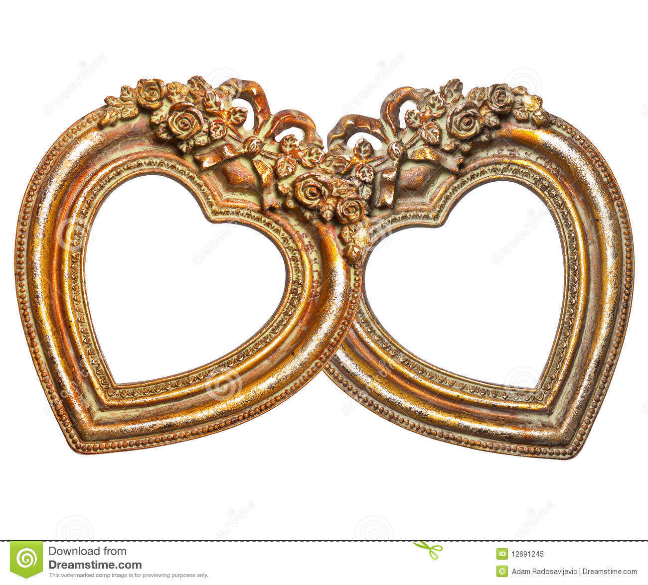 Couple Love In Retro Frames Stock Image - Image of ornament, frame ...