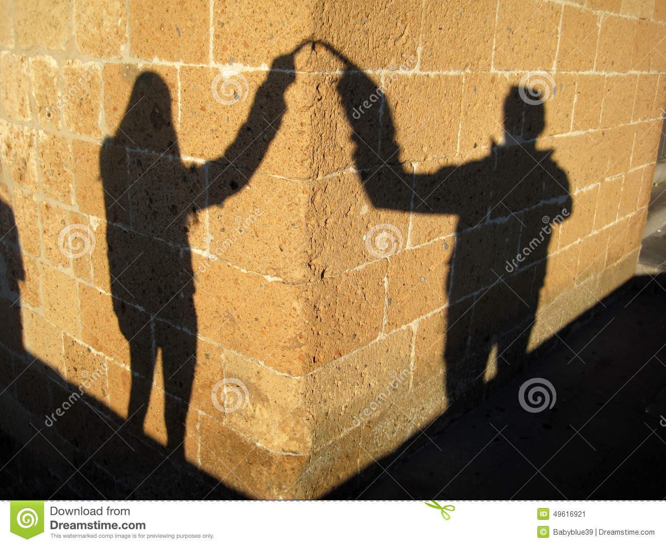Couple loving shadow
