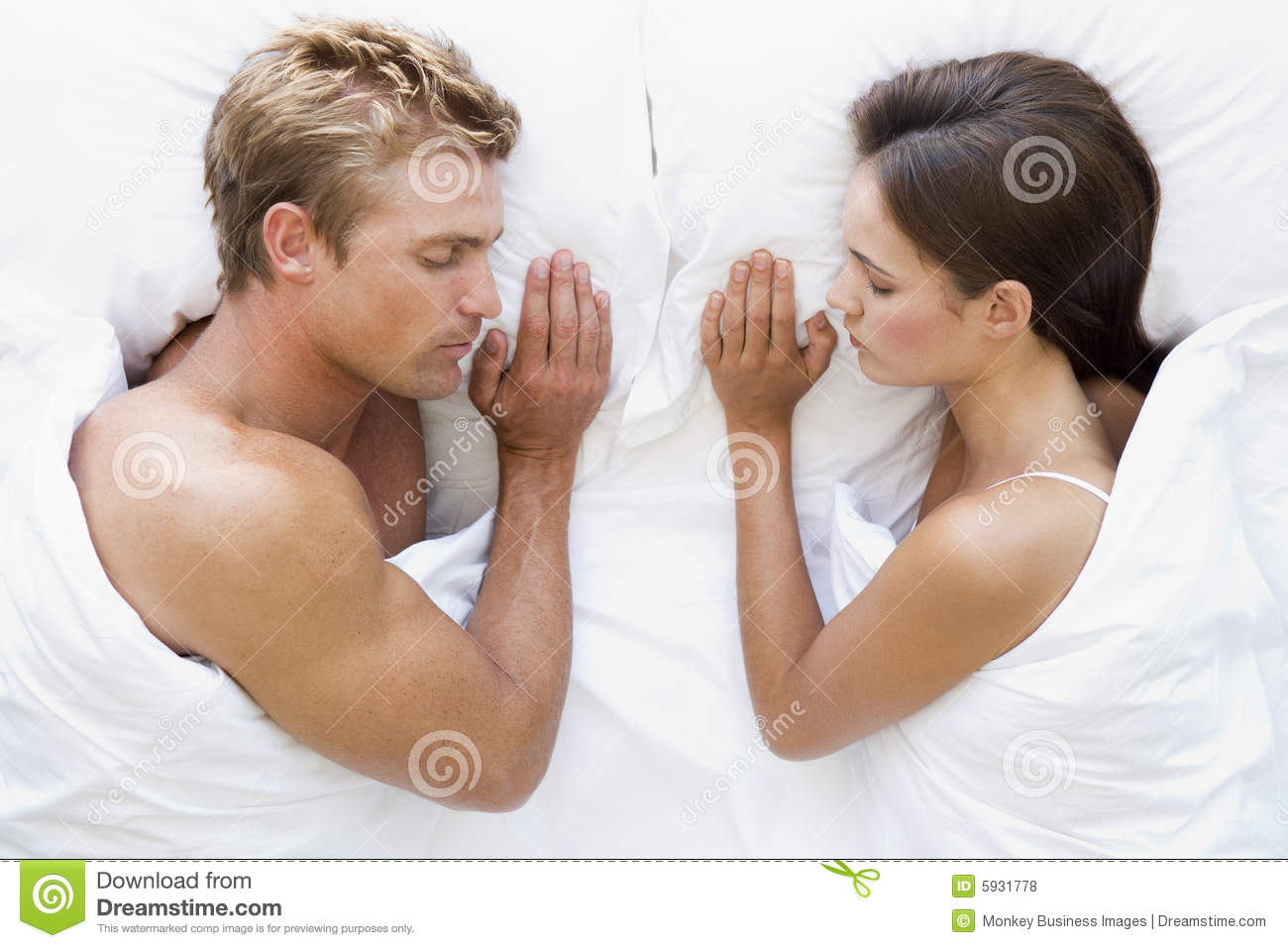 Couple Lying In Bed Sleeping Royalty Free Stock Photos ...