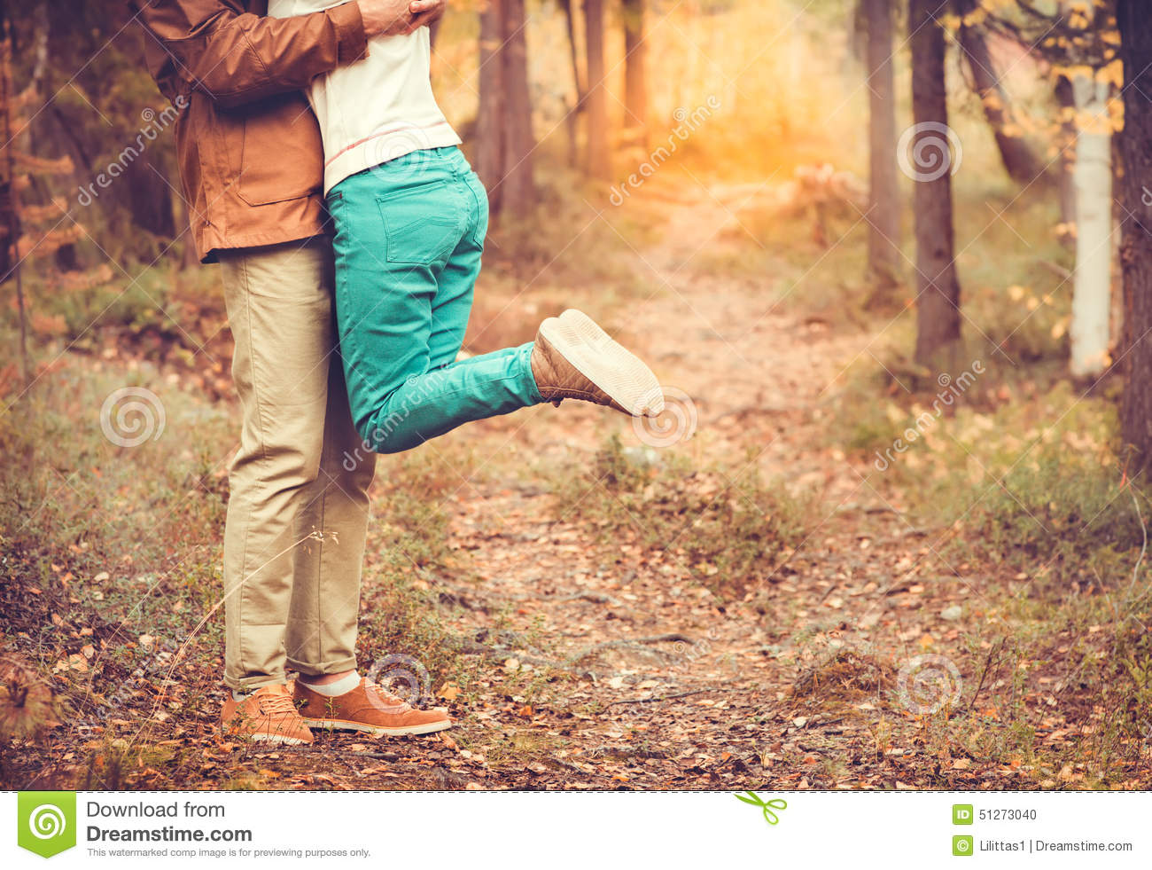 Couple Man and Woman hugging in Love Romantic relationship