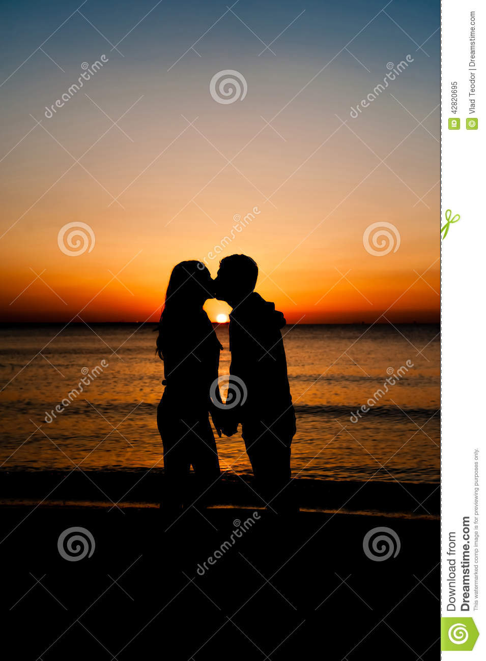 couple man and woman kissing in love stock photo image
