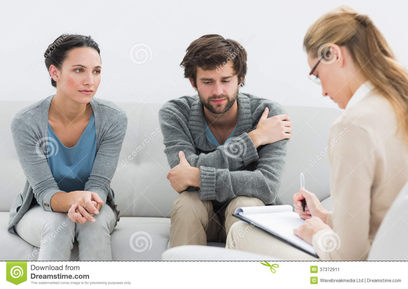 Couple In Meeting With A Relationship Counselor Stock Image Image