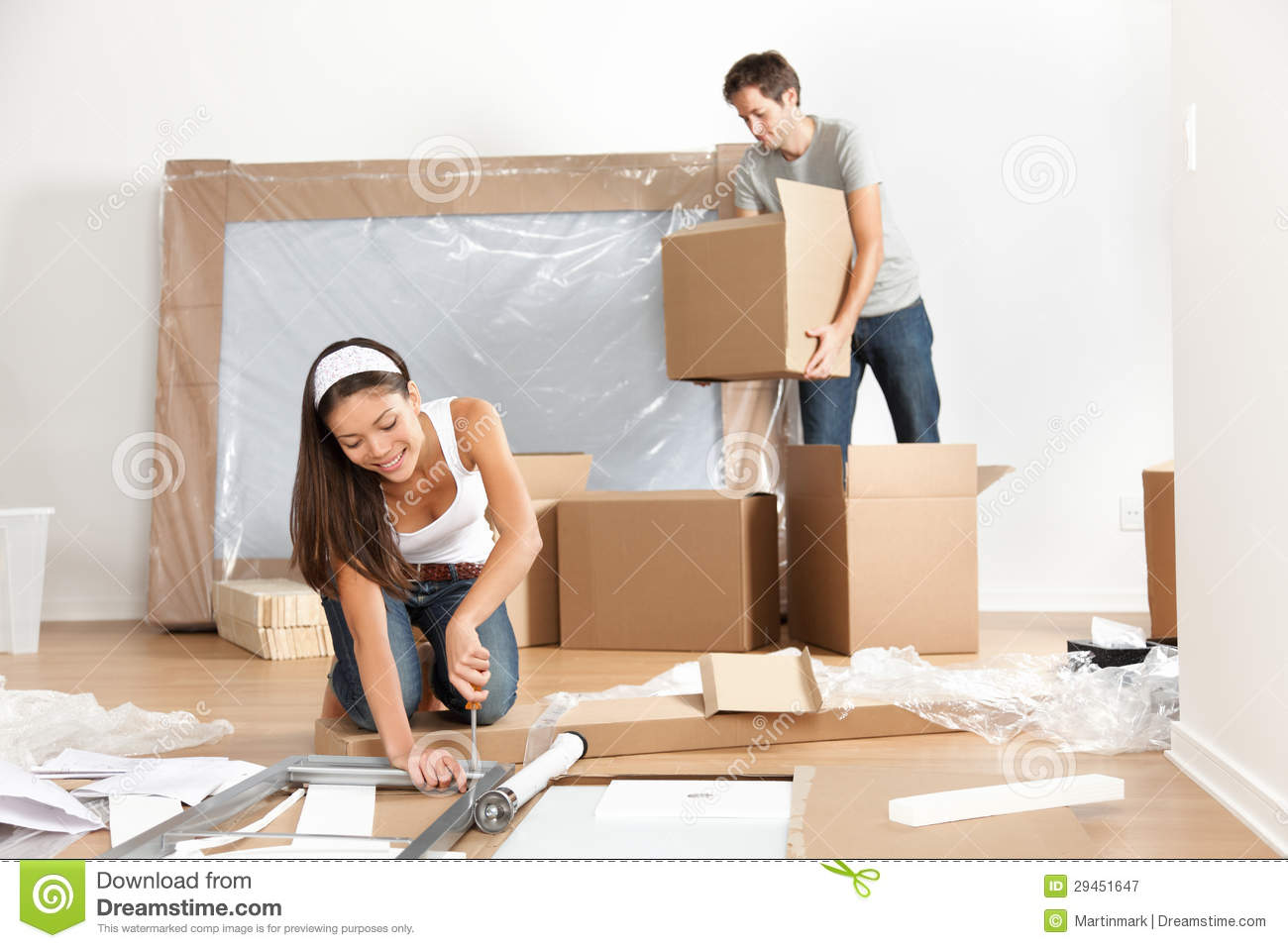 Couple moving in new home house stock image image 29451647 When is the best time to move house