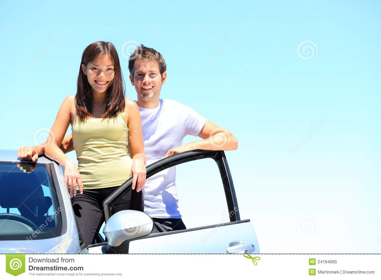 Couple and new car