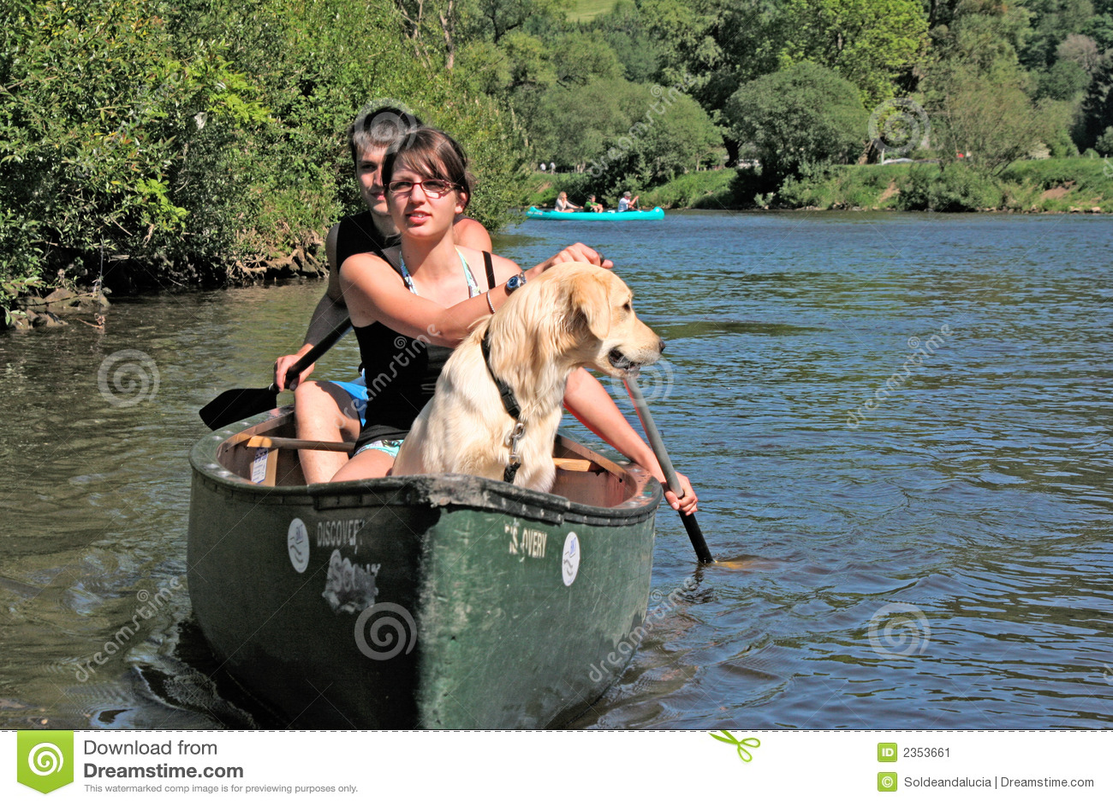 Couple Paddling Kayak
