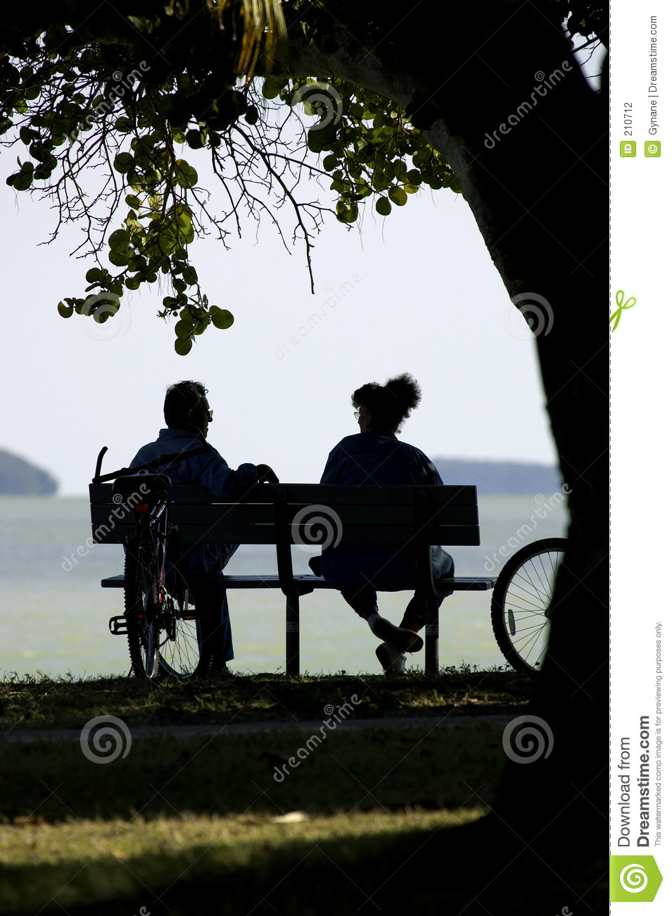 Couple On Park Bench Stock Photography Image 210712