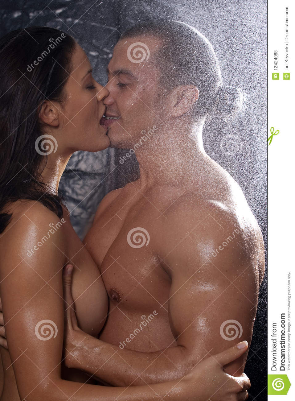 Couple In Passion Stock Photo Image Of Affectionate