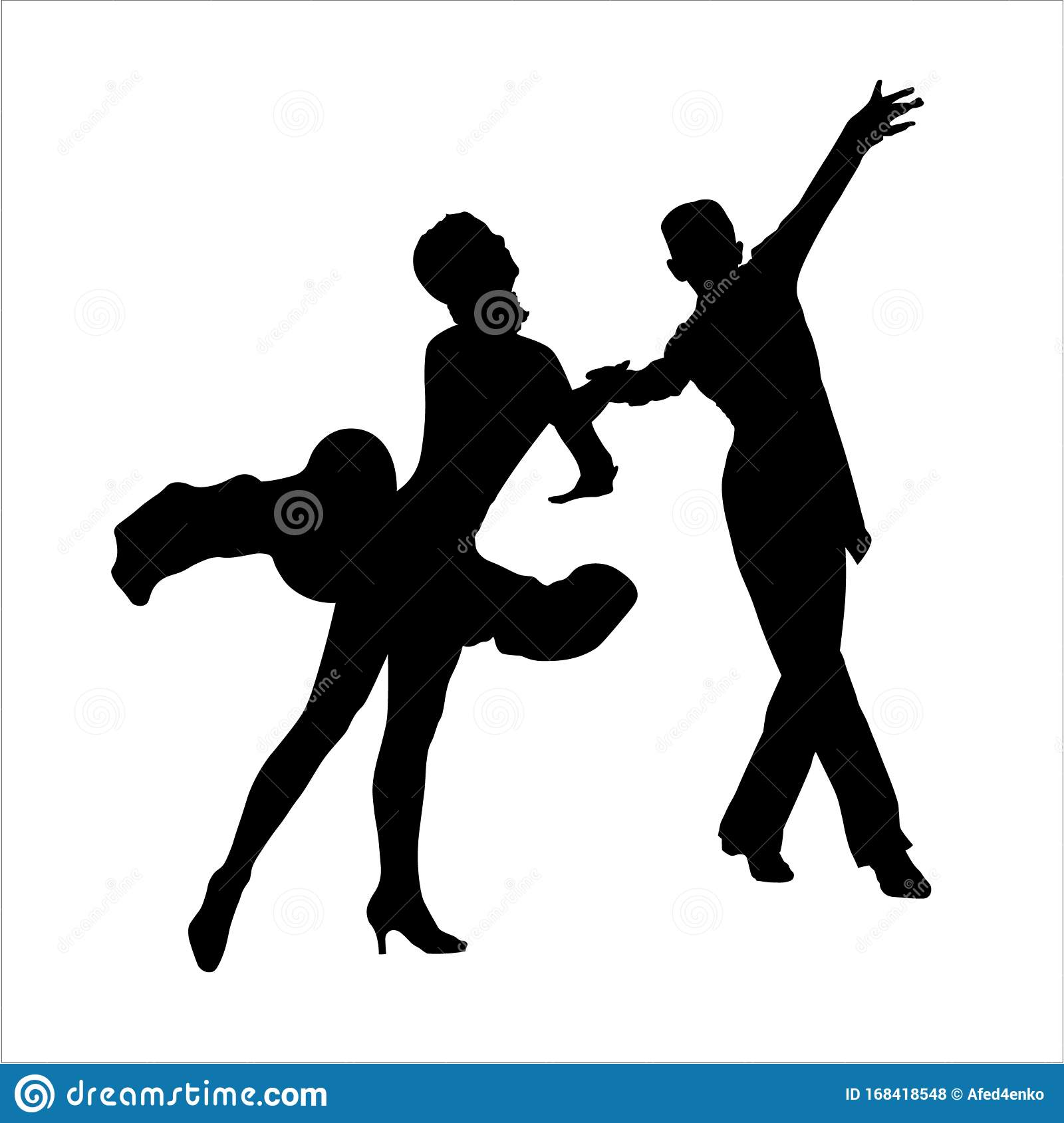 Romantic Young Couple Silhouette Dancing Stock Footage
