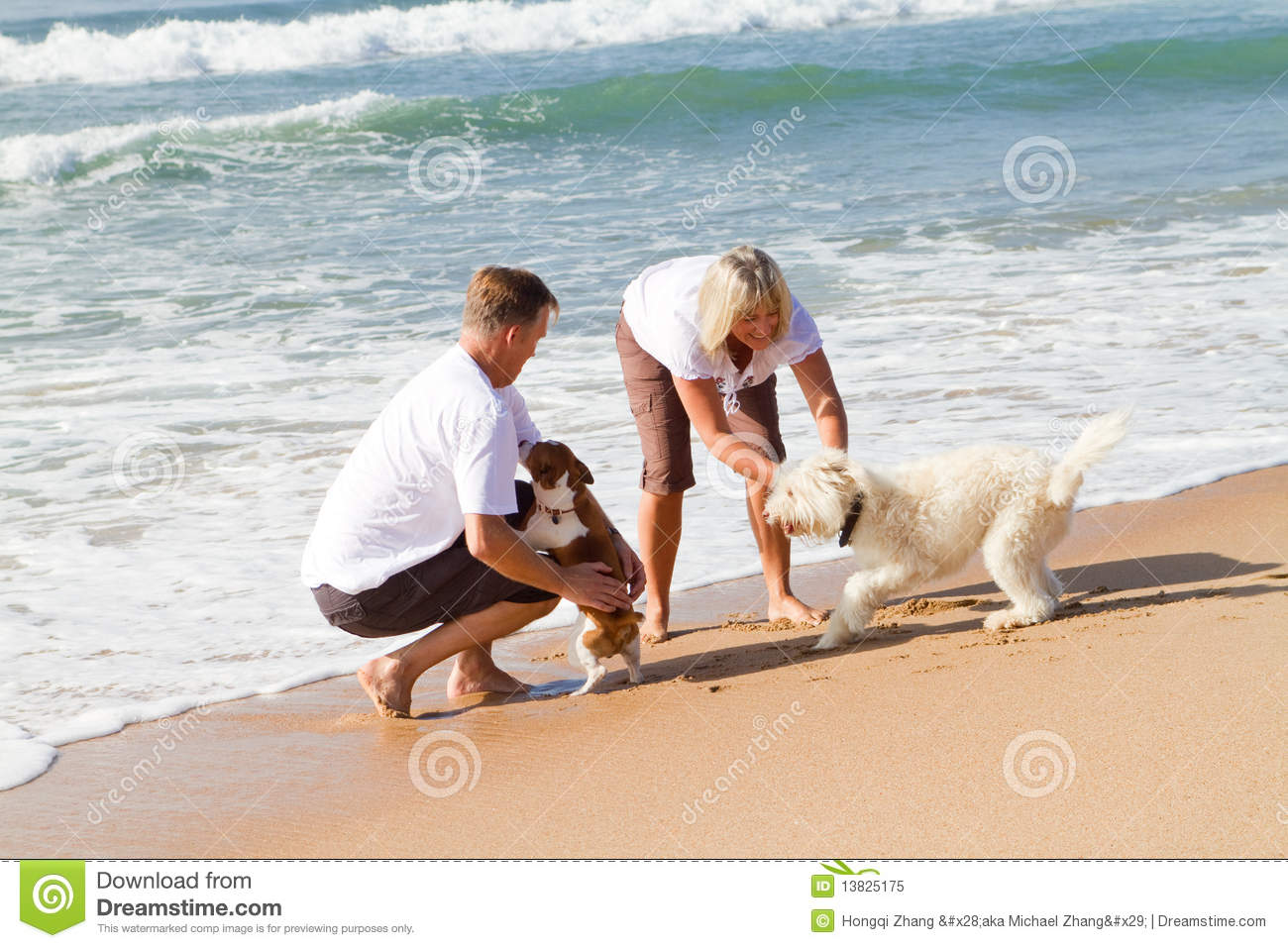 Download Couple and pet stock image. Image of beauty, active, loving - 13825175