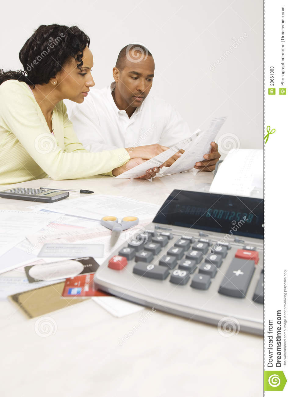 Couple Planning Their Financial Budget Stock Photos Image 29661383