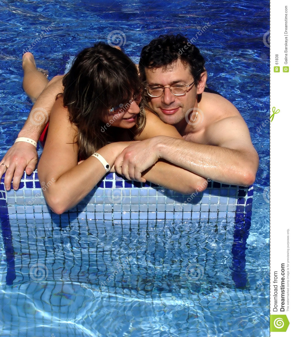 Couple in the pool
