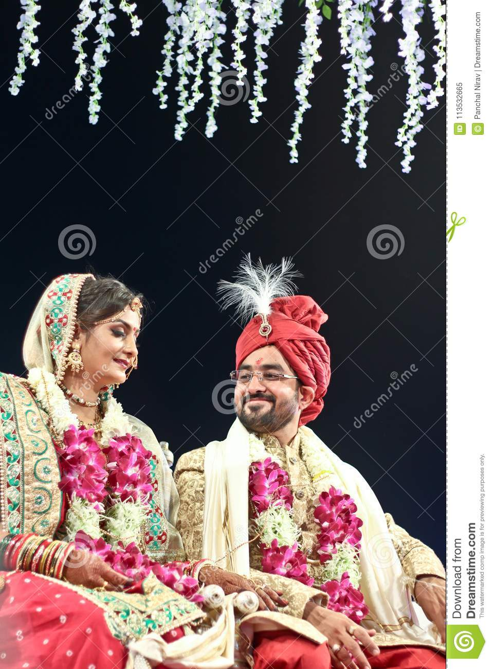 Couple pose of bride and groom india
