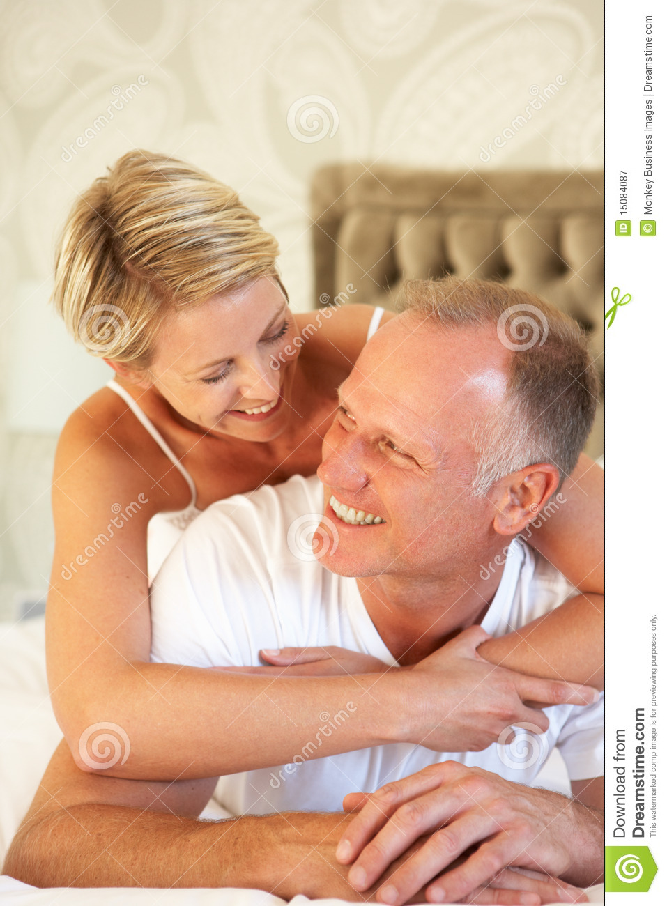 Couple relaxing in bedroom royalty free stock photography for Role playing ideas for couples in the bedroom