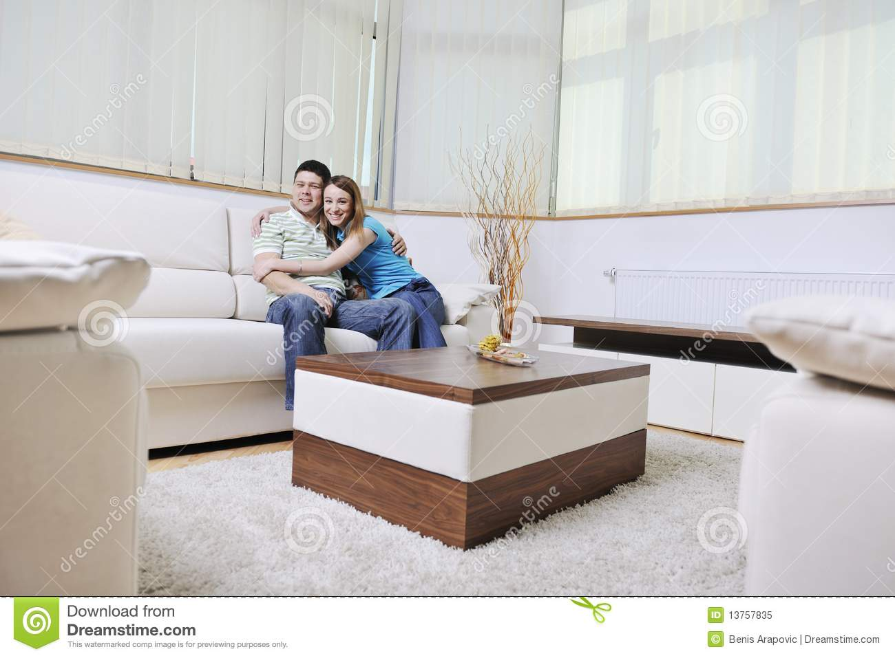 Couple Relaxing At Home Royalty Free Stock Photo Image