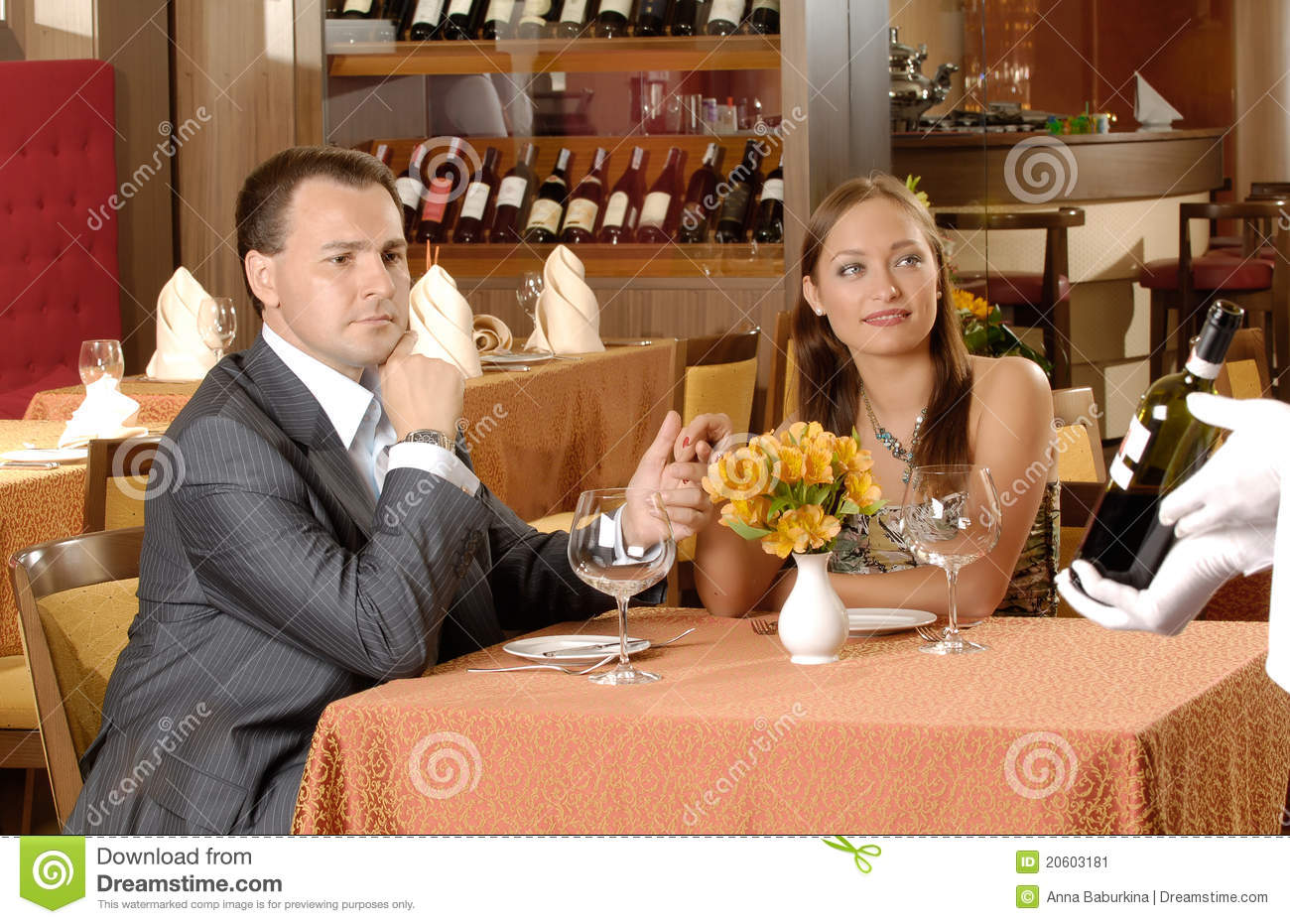 Couple In Restaurant Stock Image - Image: 20603181