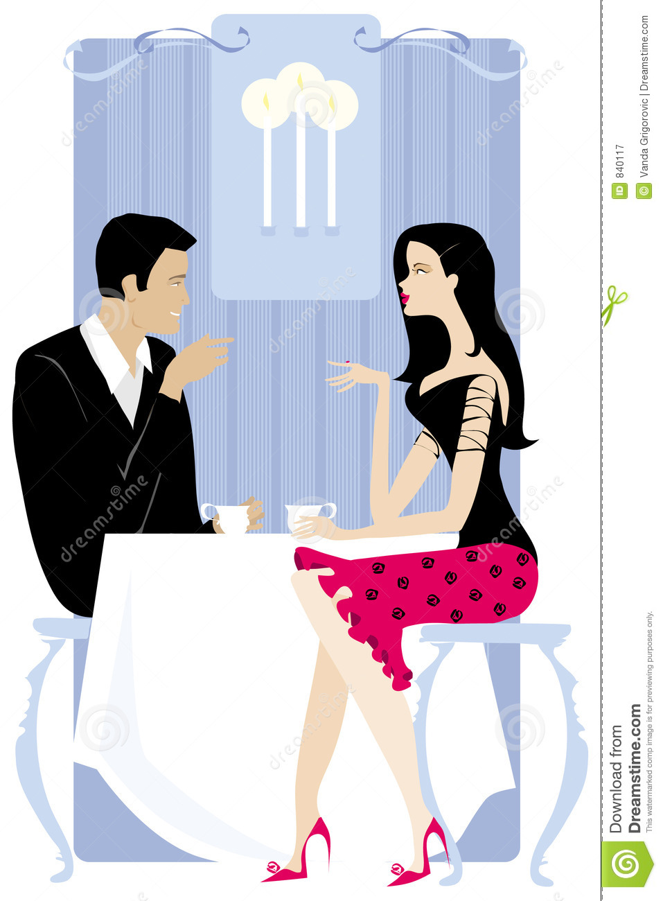Couple in the restaurant