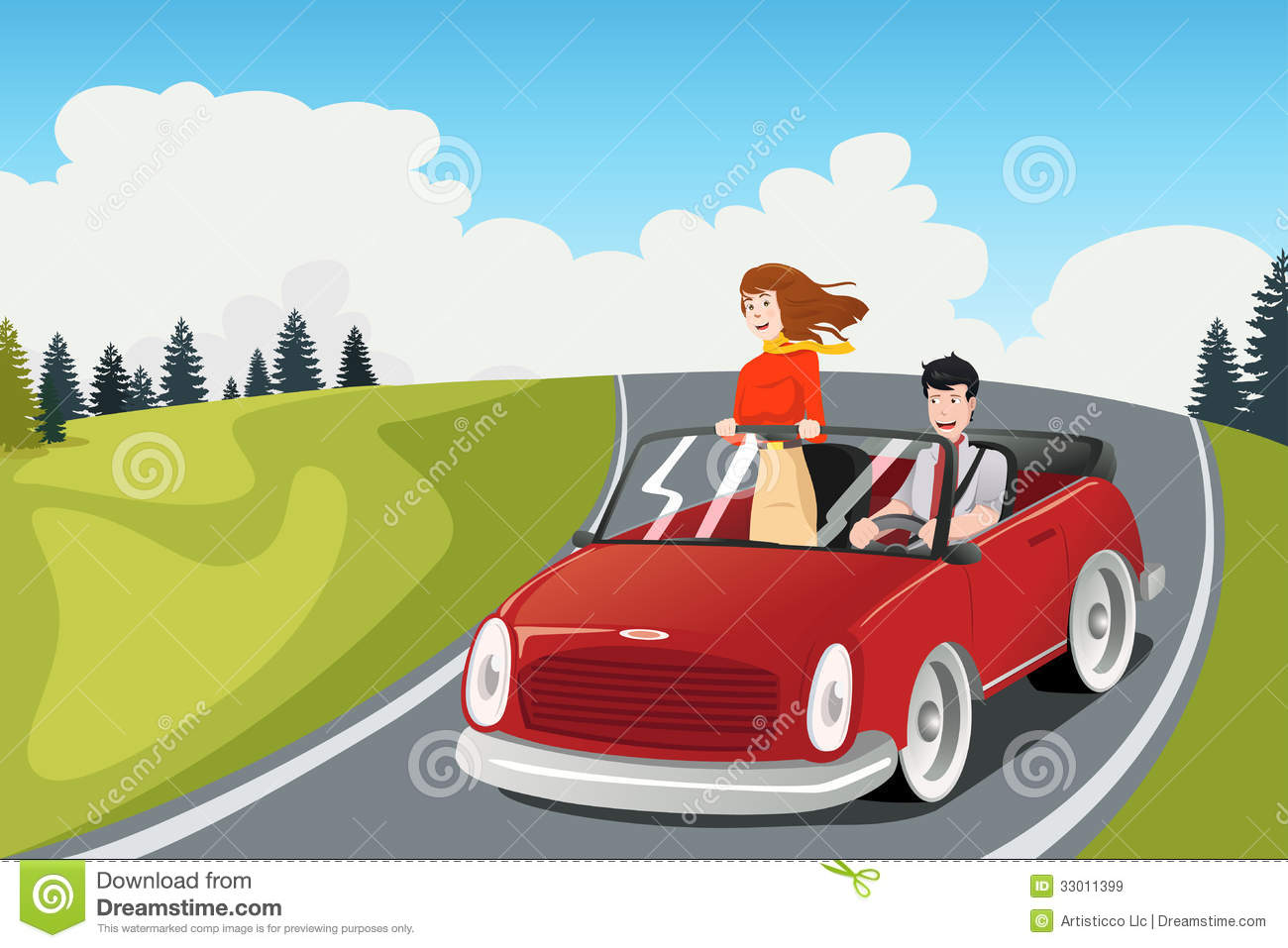 clipart car driving on road - photo #19
