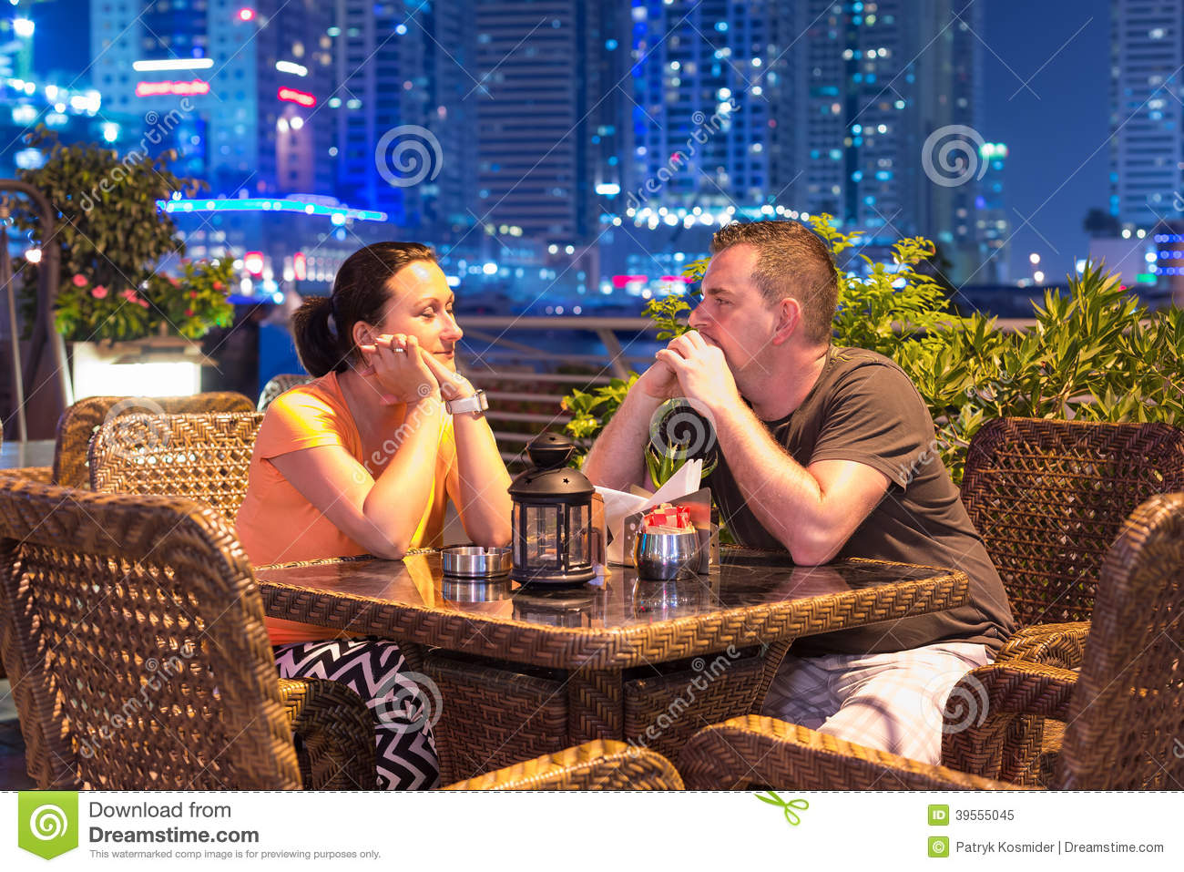 Couple on romantic dinner in dubai stock photo image for Best hotels in dubai for couples