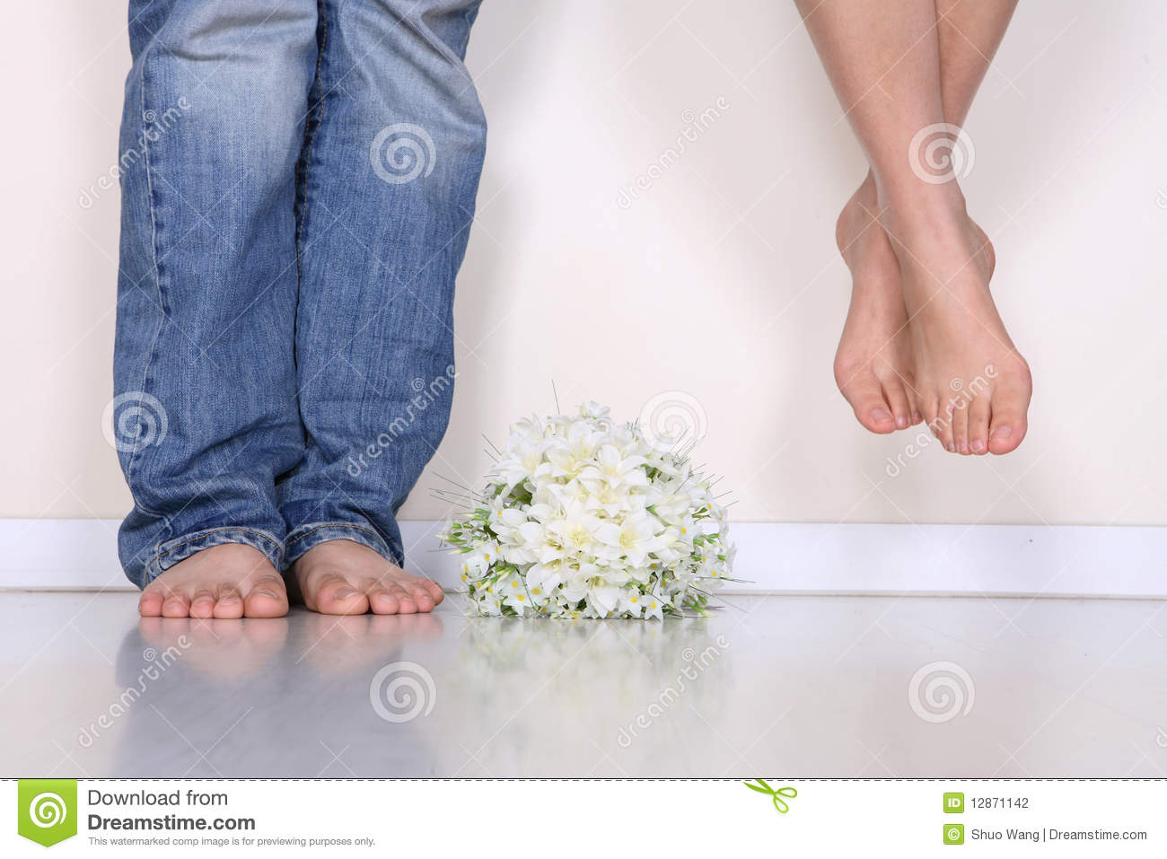 The Couples Feet Stock Photography Image 12871142