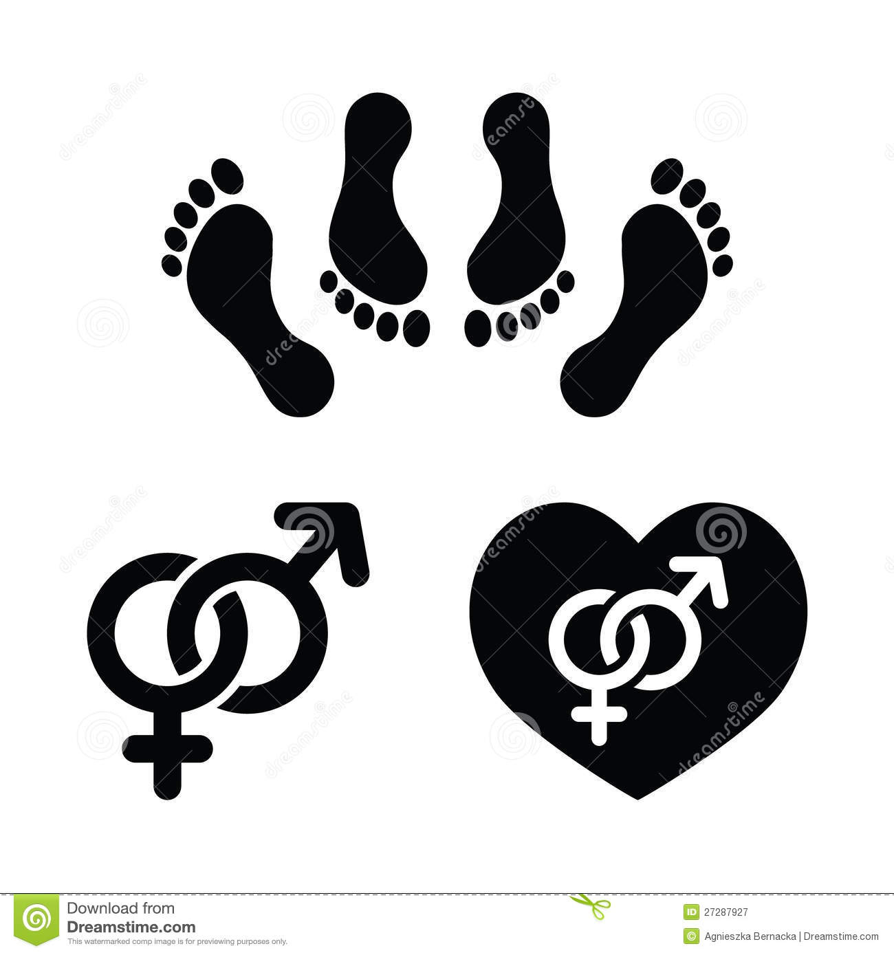 Couple Making Love Icons Set Royalty Free Stock Photography