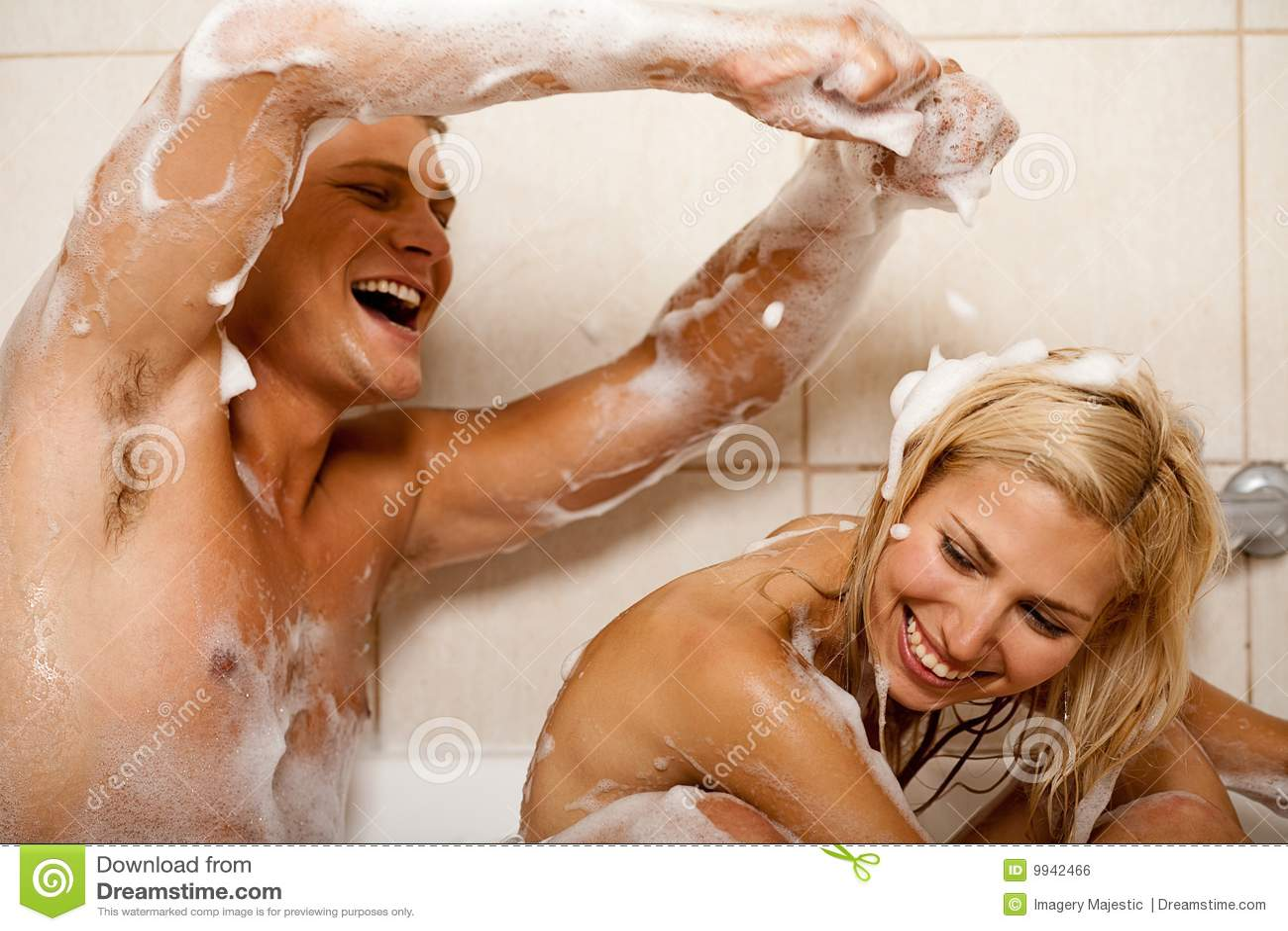 Two girls sex shower