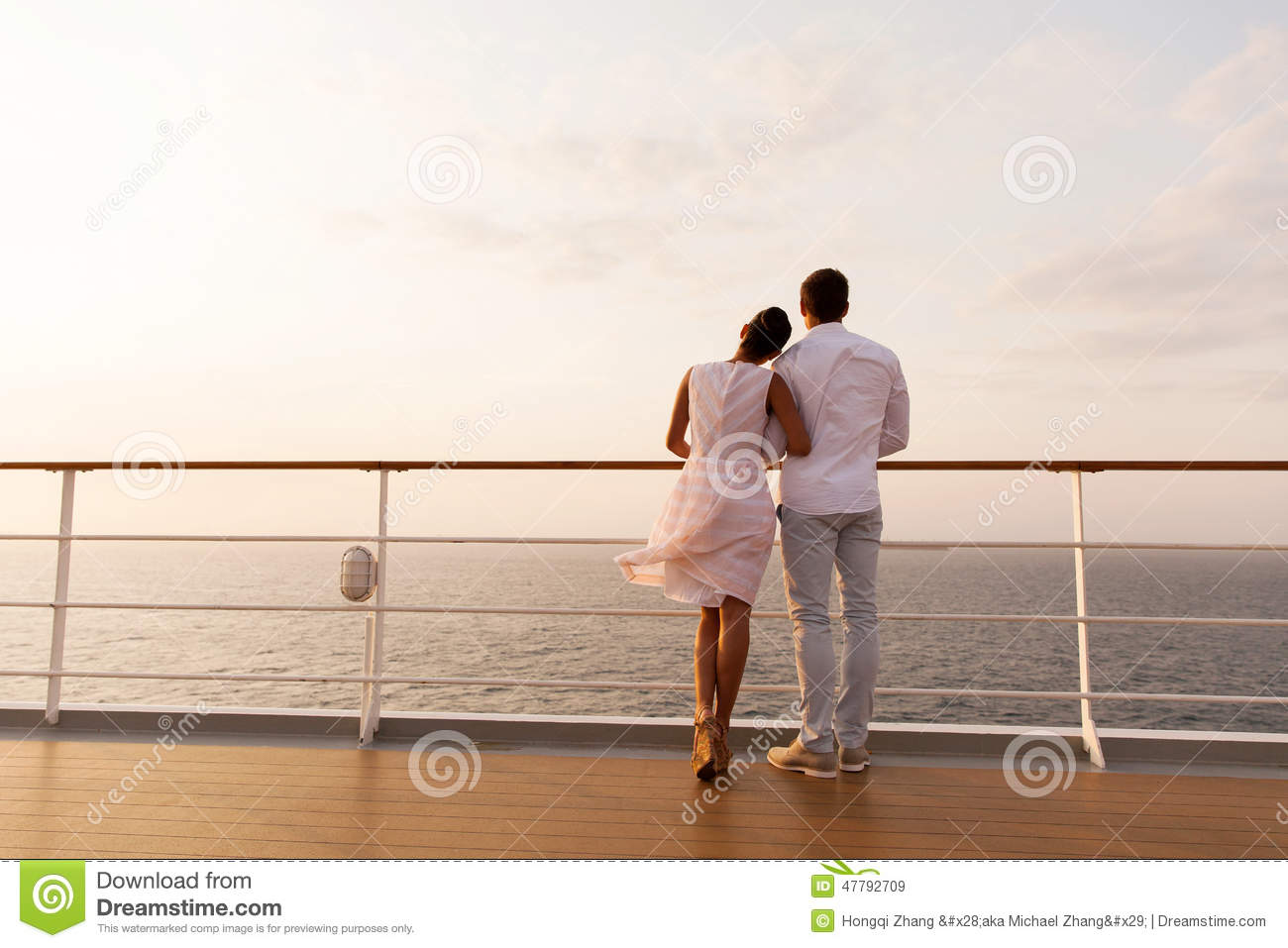 Couple Ship Deck Stock Photo  Image 47792709