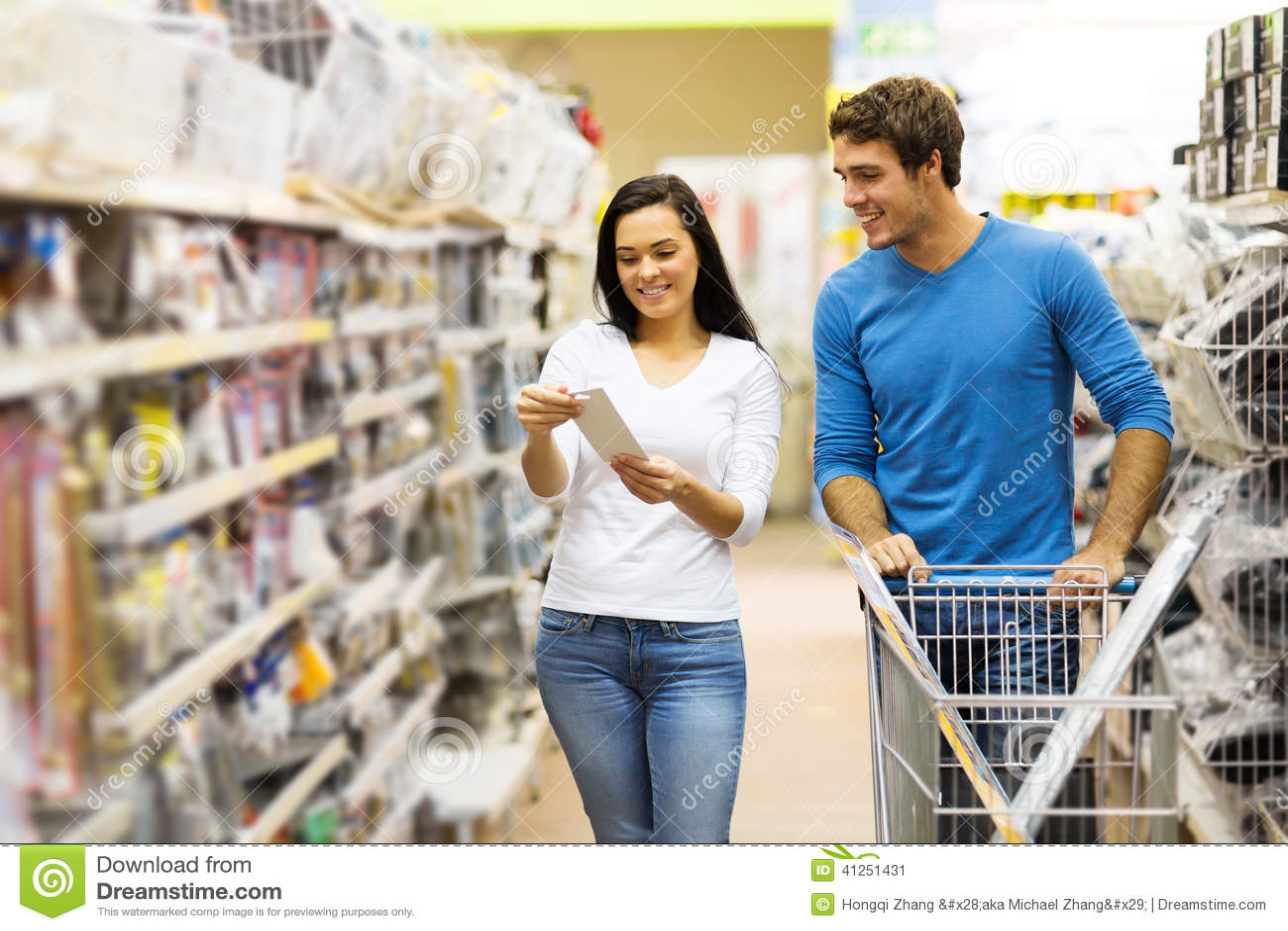 Couple Shopping Diy Tools Stock Photo Image 41251431