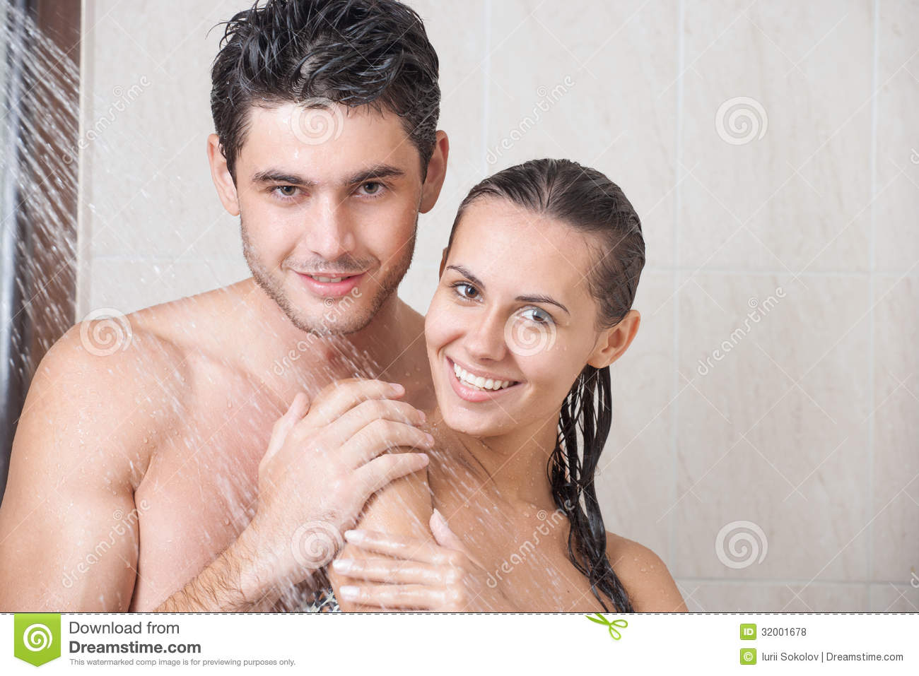 Couple In Shower Royalty Free Stock Photos Image 32001678