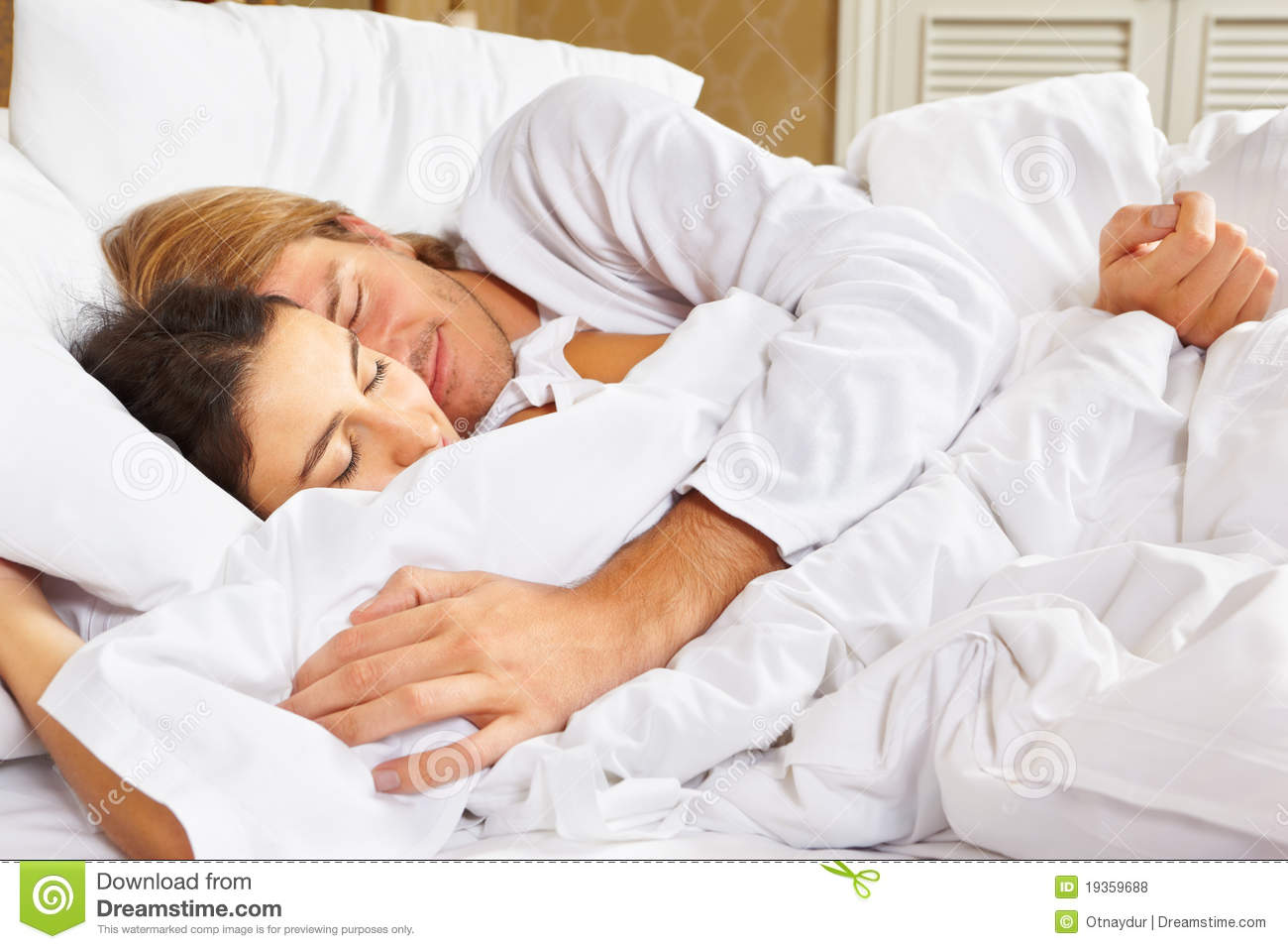 Couple showing romance on bed Royalty Free Stock Photos. Couple Showing Romance On Bed Stock Photography   Image  19360302