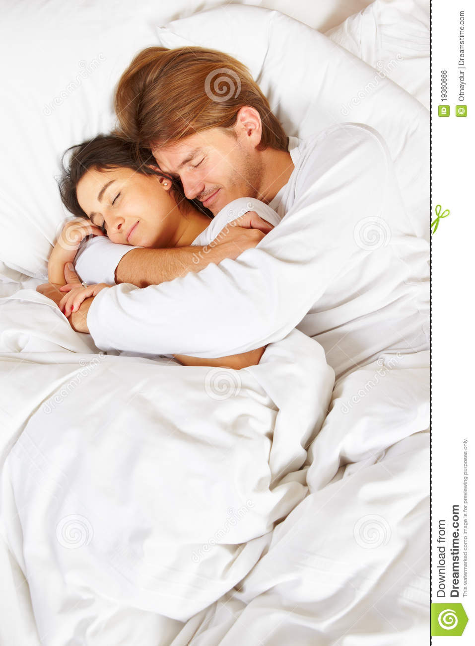 Royalty Free Stock Photo  Download Couple Showing Romance On Bed. Couple Showing Romance On Bed Royalty Free Stock Image   Image