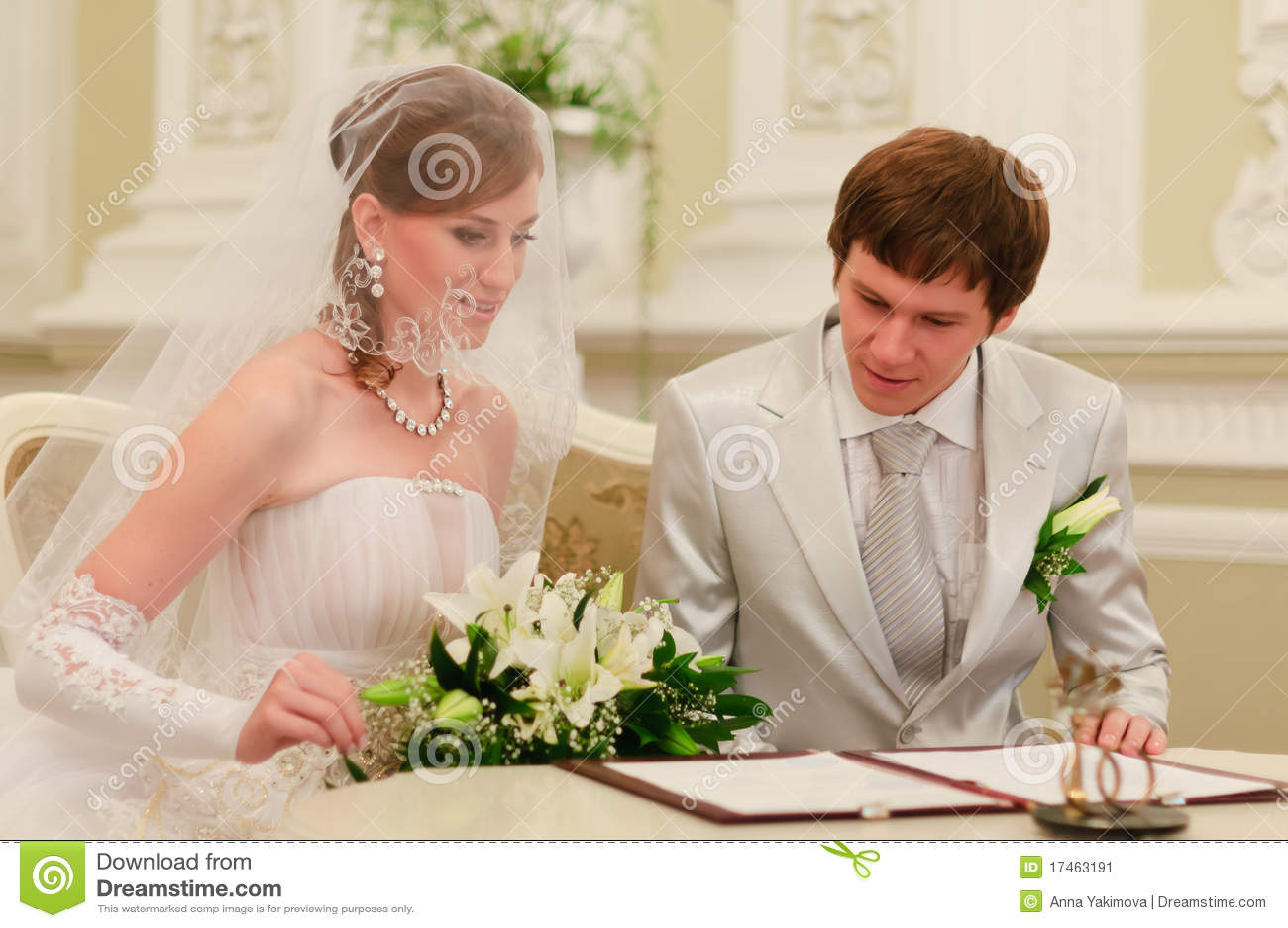 Couple Sign Wedding Register Stock Image