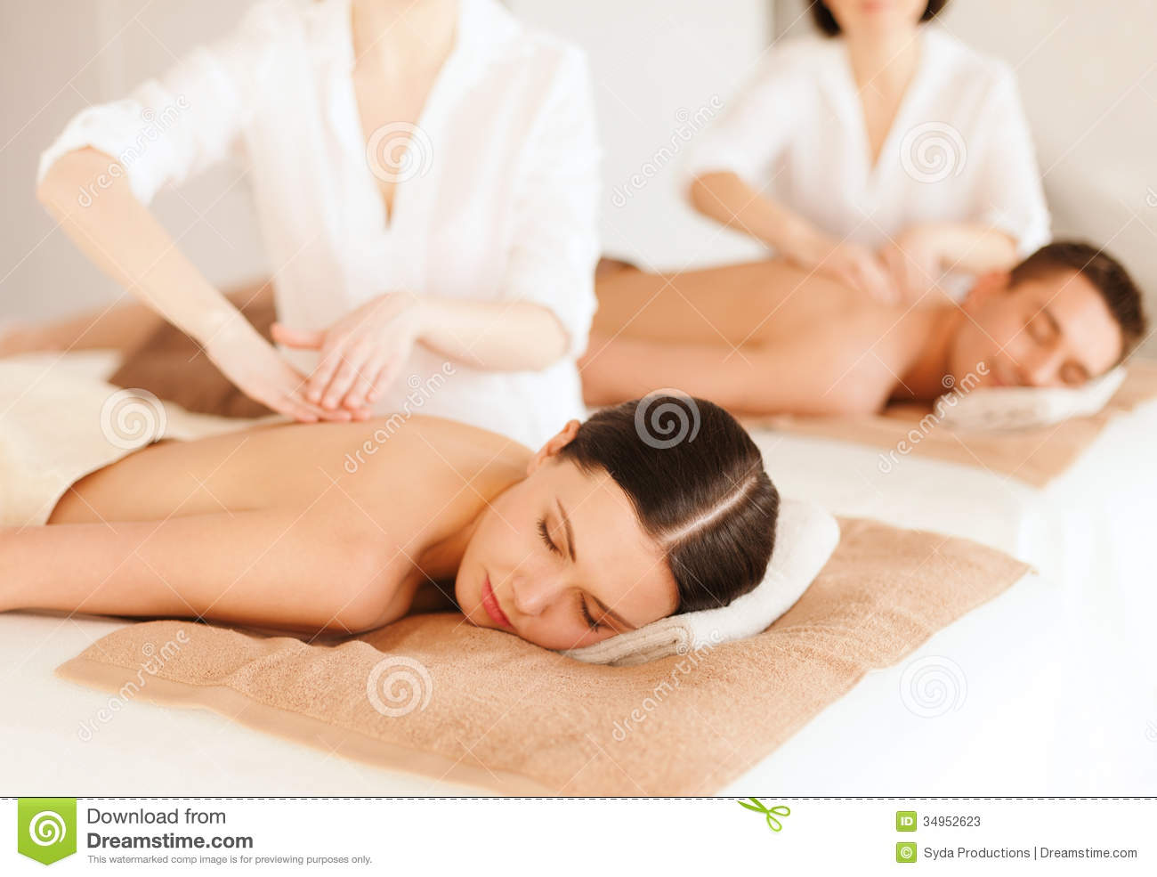 Couple in spa stock photos image 34952623 for Health spa vacations for couples