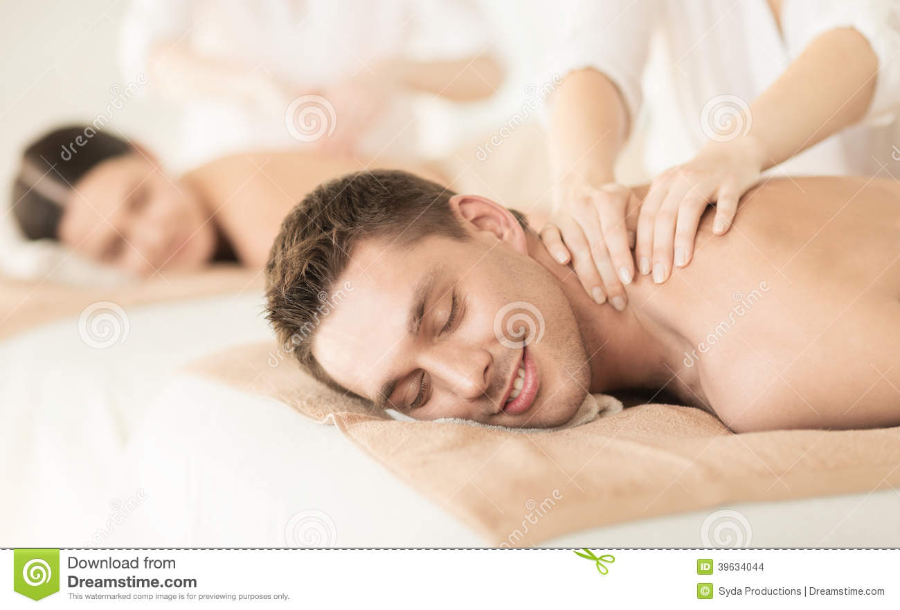 couple in spa stock photo image 39634044. Black Bedroom Furniture Sets. Home Design Ideas