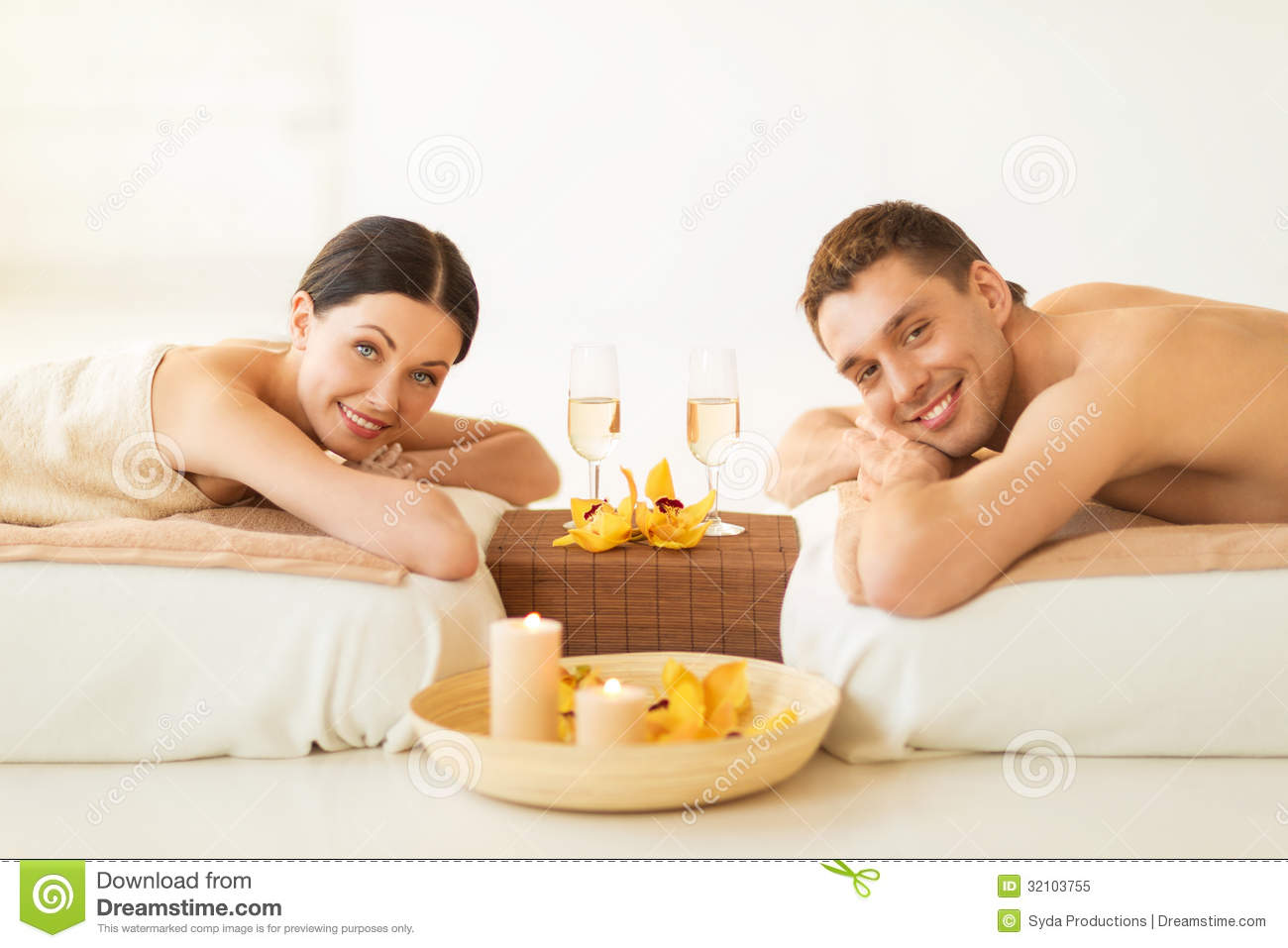 Couple in spa royalty free stock photo image 32103755 for Health spa vacations for couples