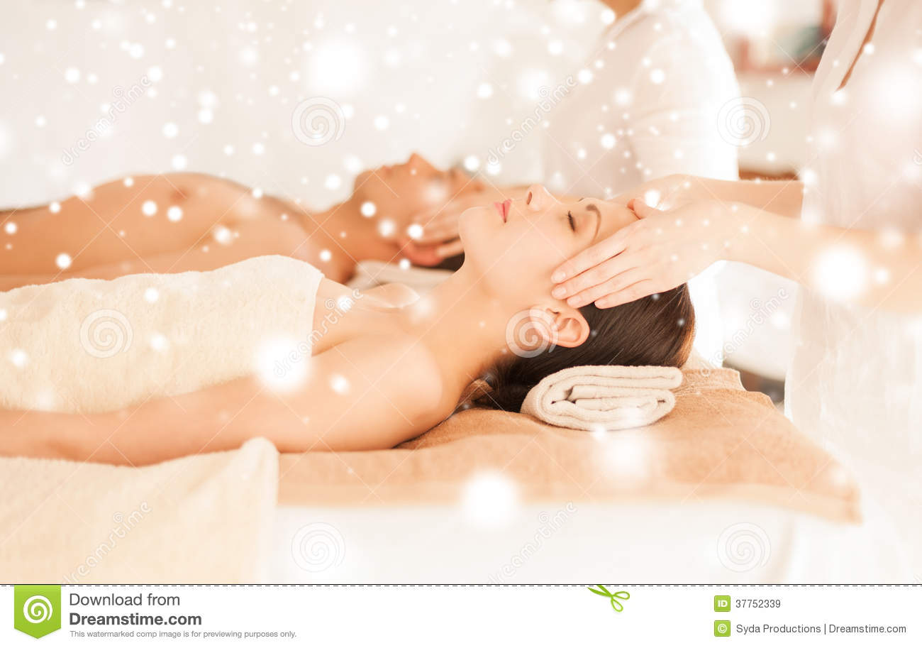 couple in spa salon getting face treatment royalty free stock images image 37752339. Black Bedroom Furniture Sets. Home Design Ideas