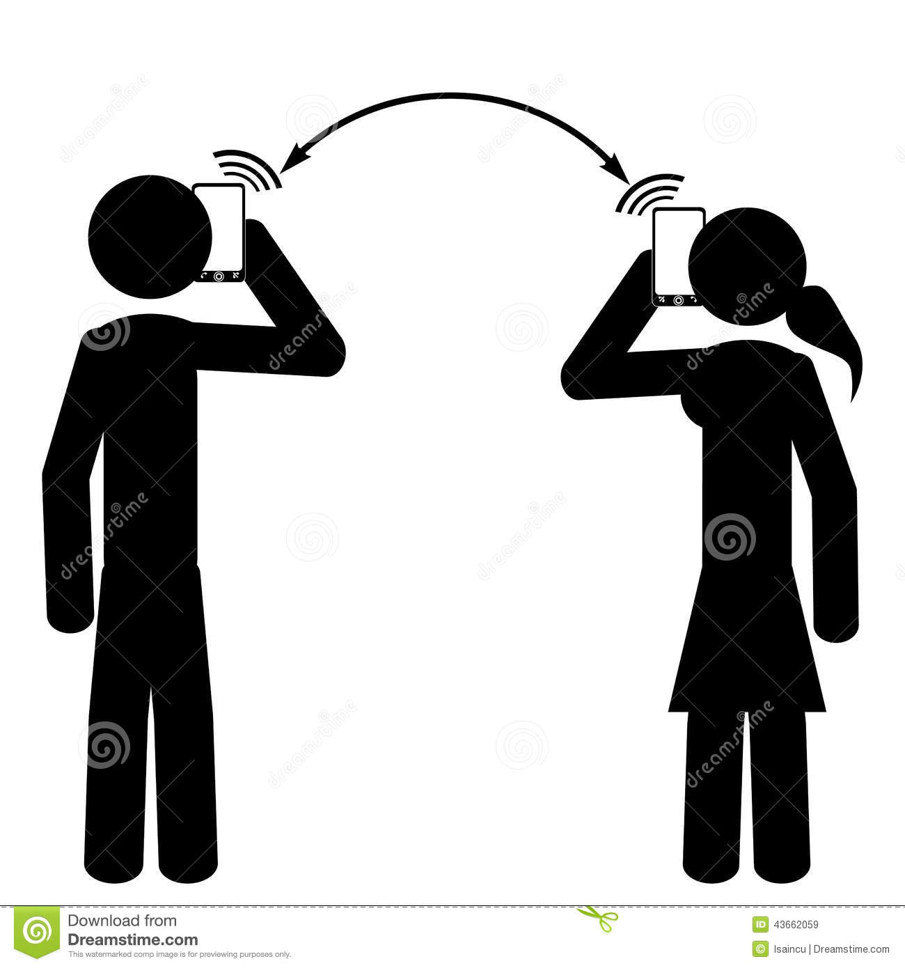 couple are speaking at phone stock vector image 43662059 stick figure vector free stick figure vector pack