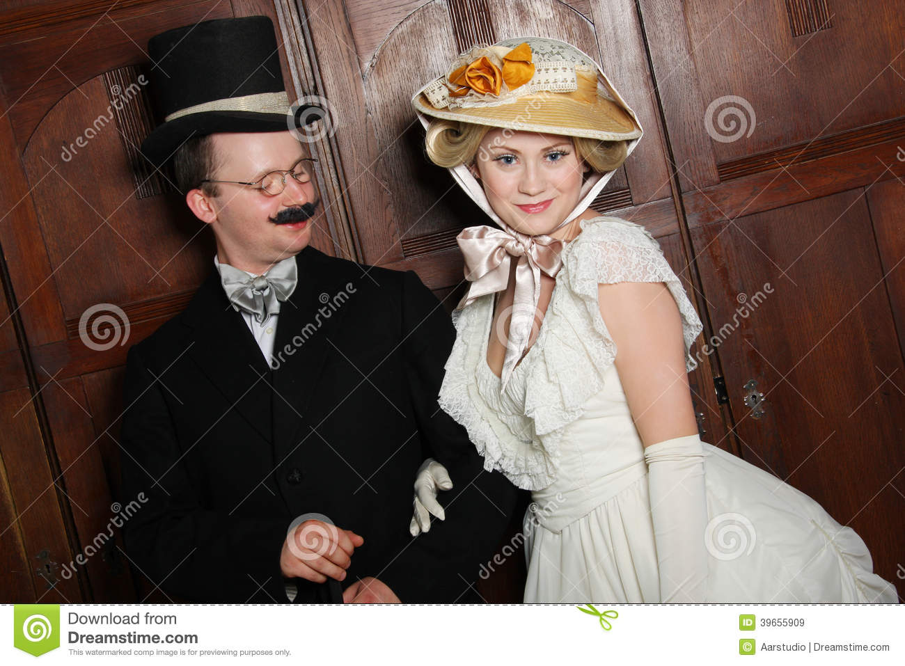 couple in th century garment w in dominant role stock couple in 19th century garment w in dominant role royalty stock images