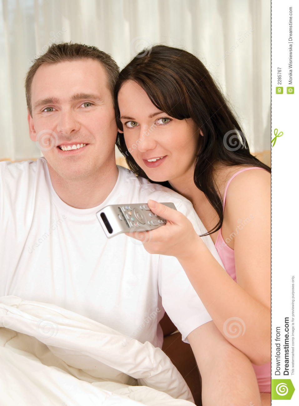 Couple together tv watching