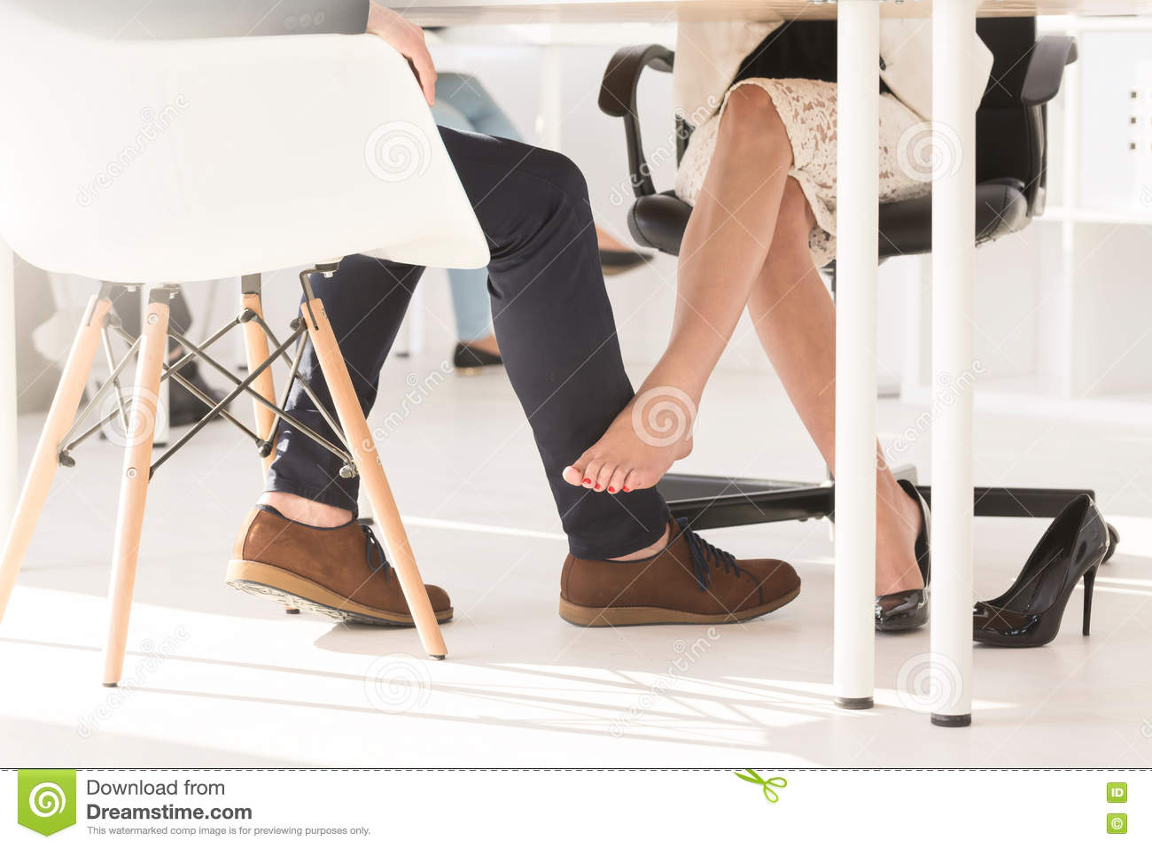Legs Under Table Stock Photos Royalty Free Images