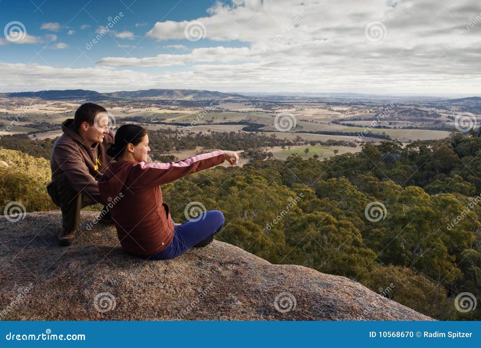Couple of a tourists