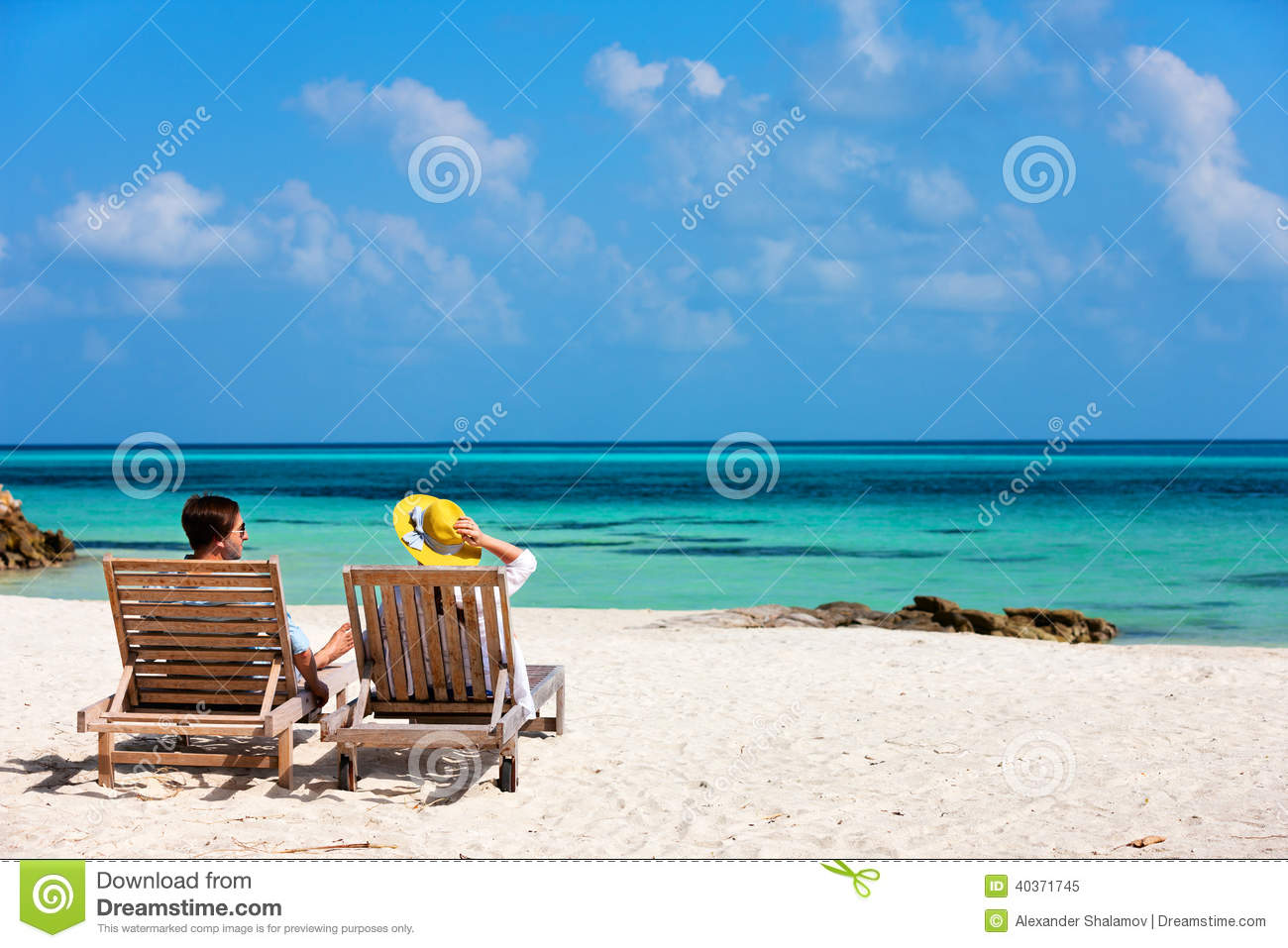 Couple at tropical beach stock photo image 40371745 for Tropical vacations for couples